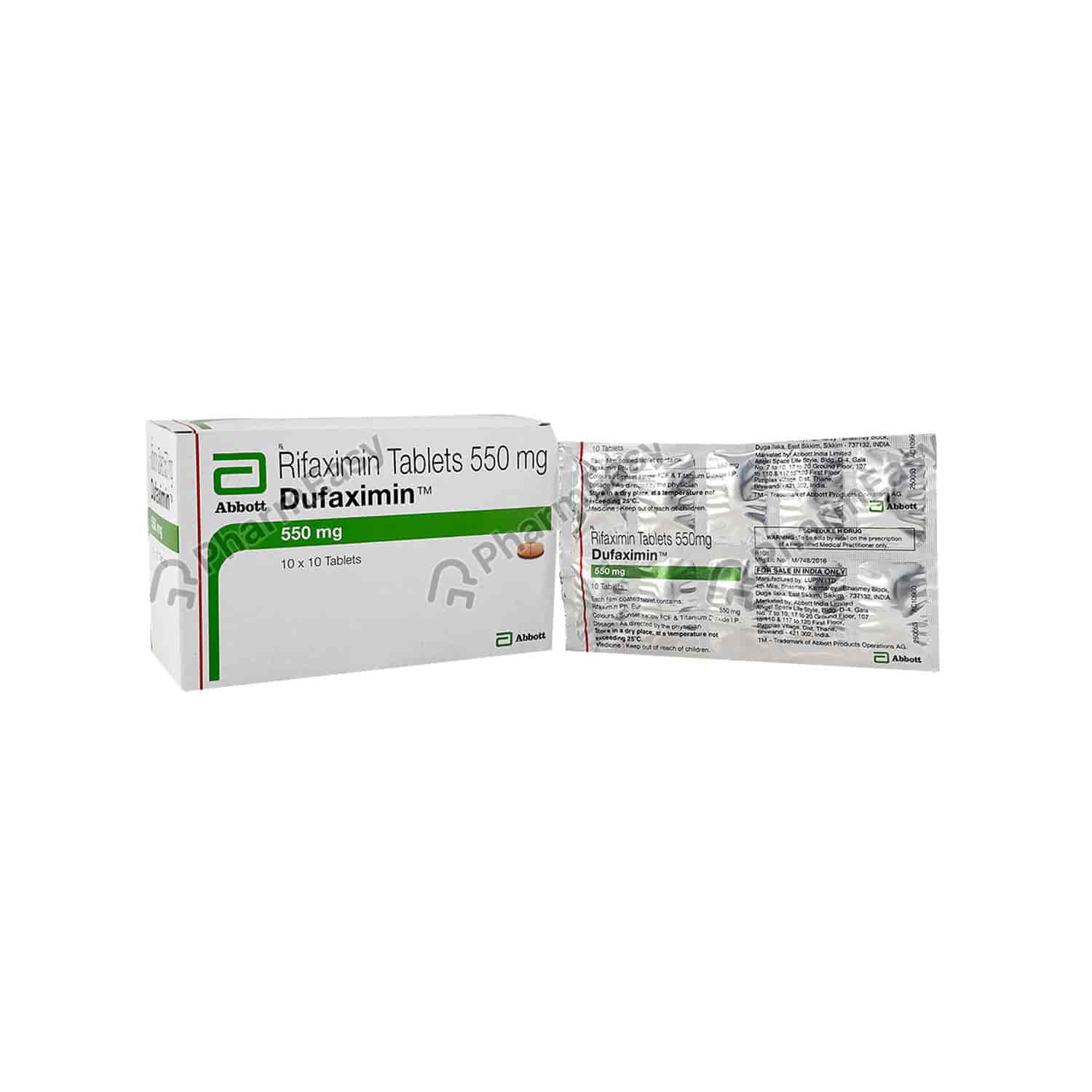 Dufaximin 550mg Tablet