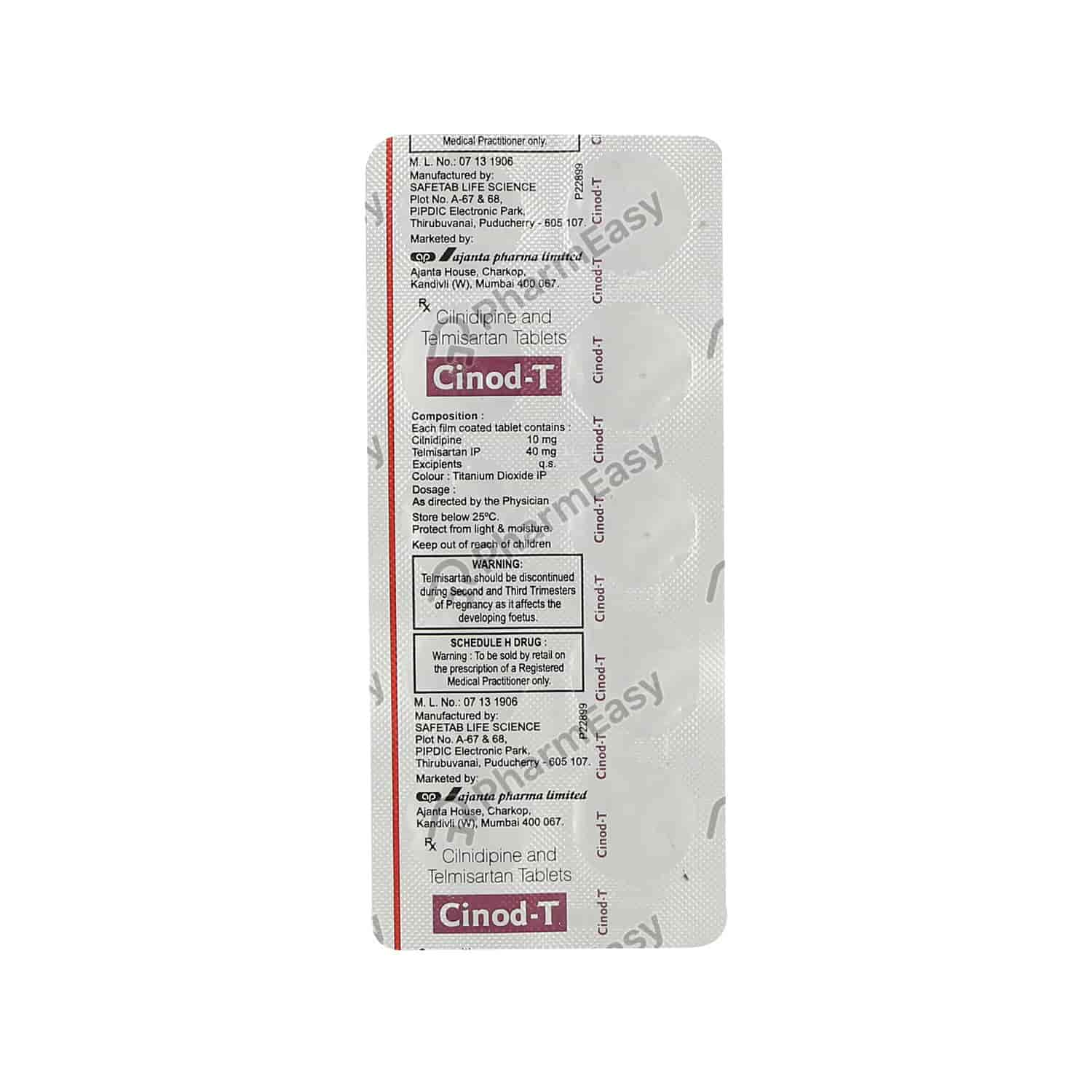 Cinod T 10mg Strip Of 10 Tablets