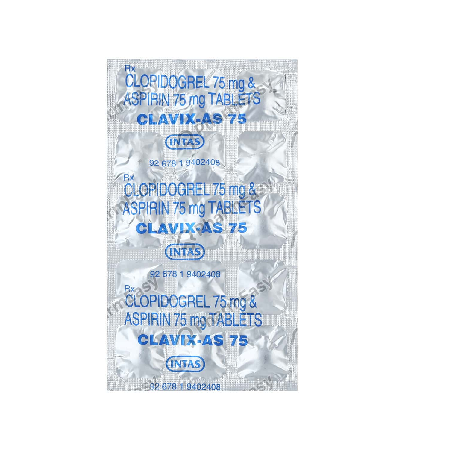 Clavix As 75mg Strip Of 15 Tablets