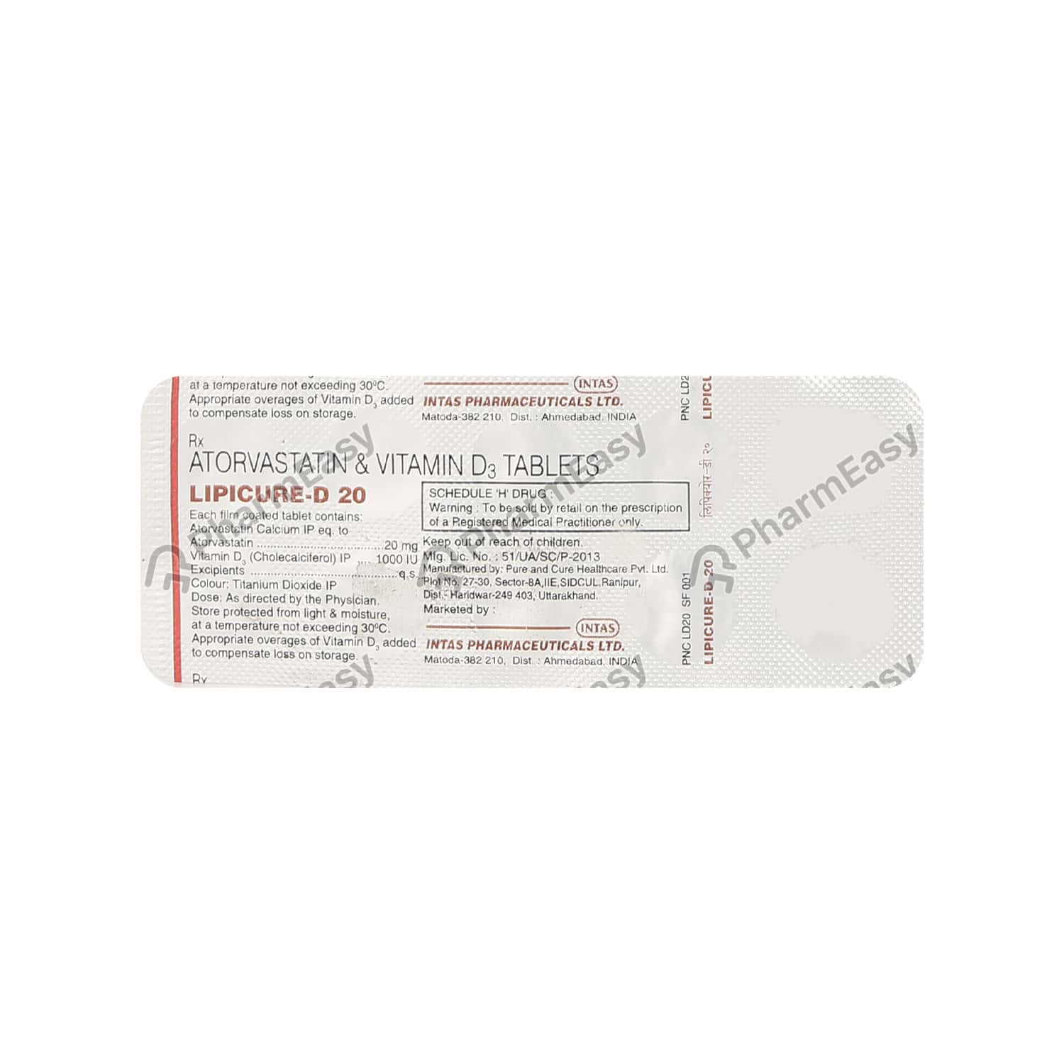 Lipicure D 20mg Tablet