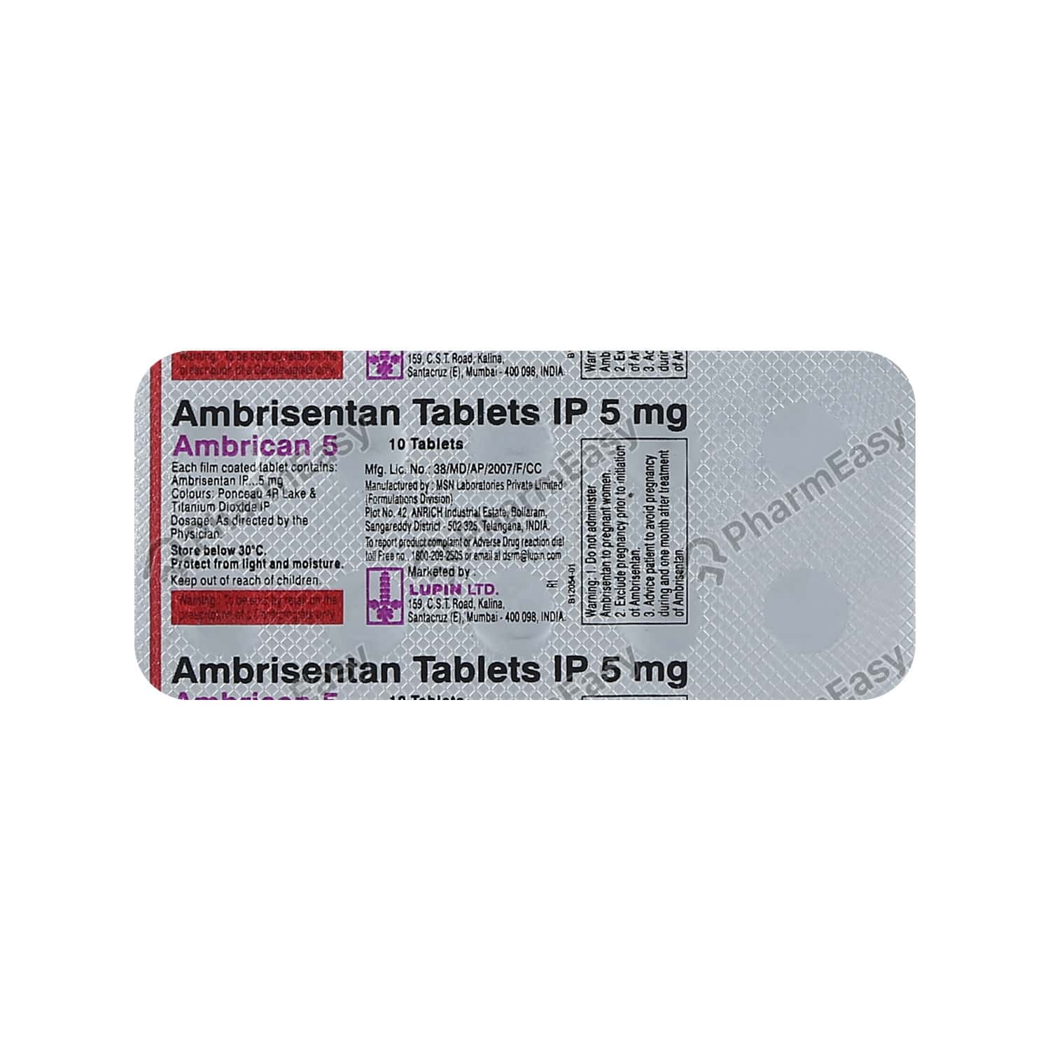 Ambrican 5mg Tablet