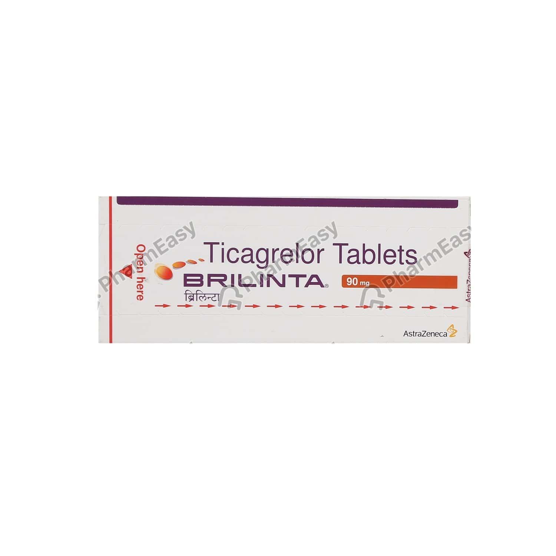Brilinta 90mg Strip Of 14 Tablets