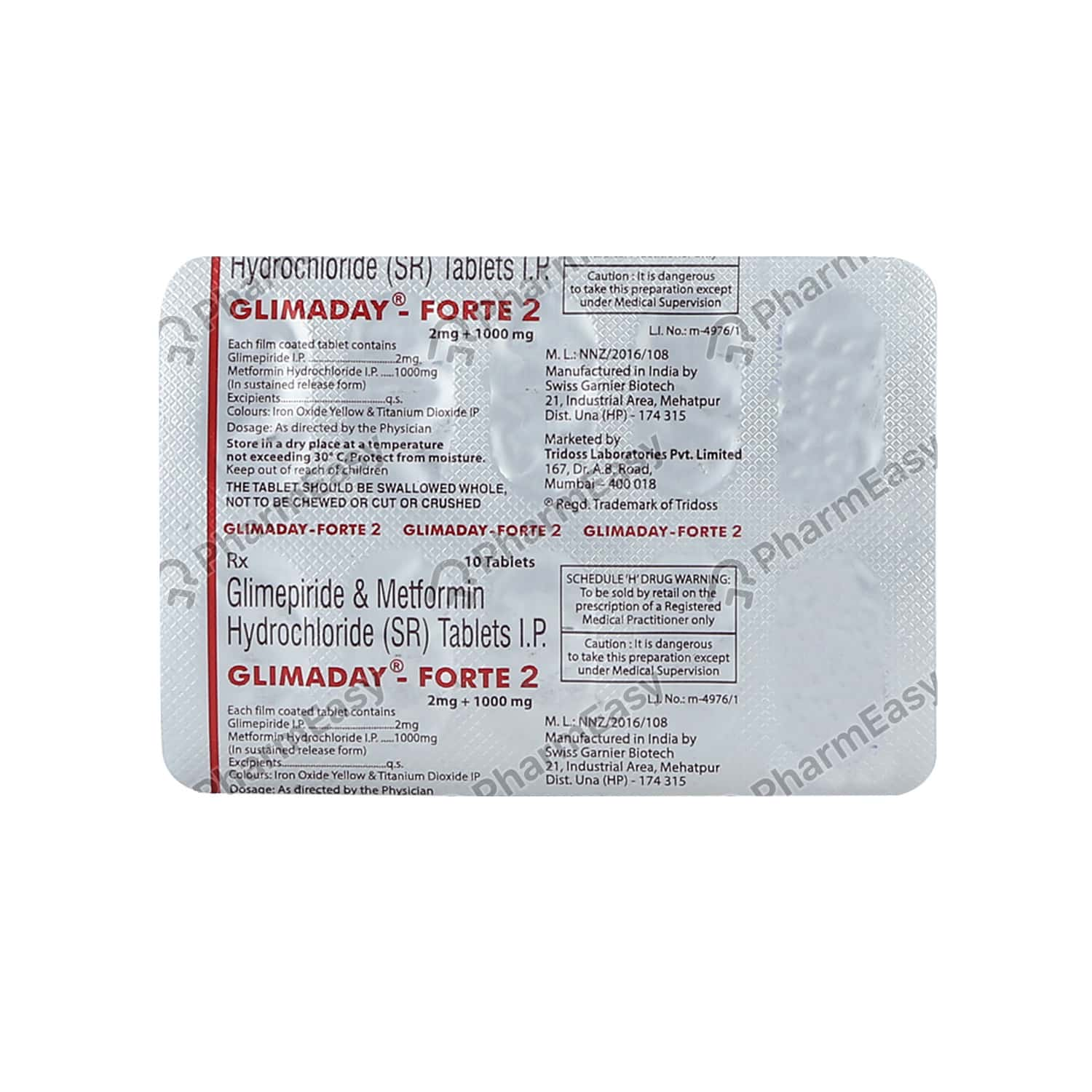 Glimaday Forte 2mg Tablet