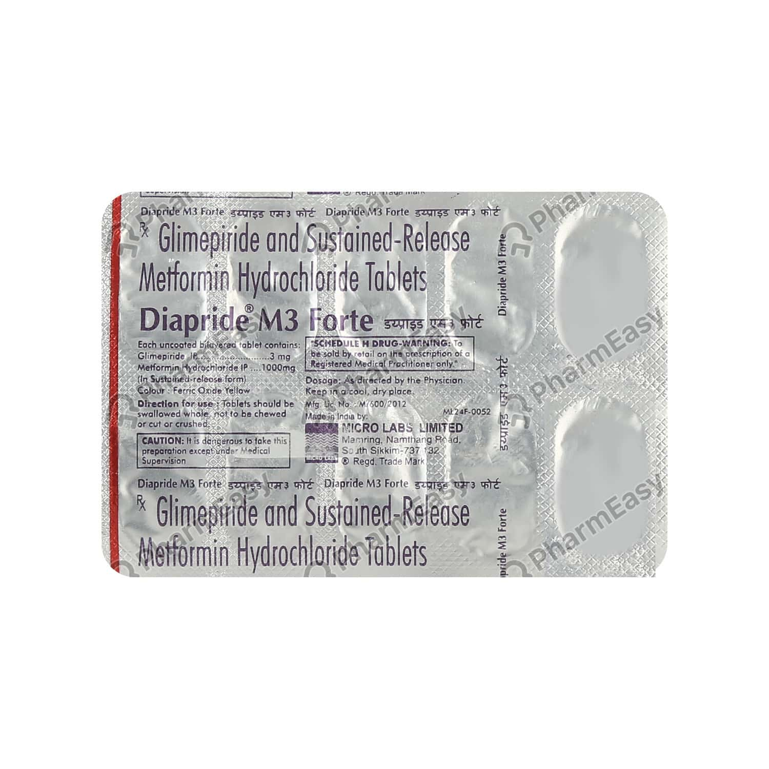 Diapride M 3mg Forte Tablet 10's