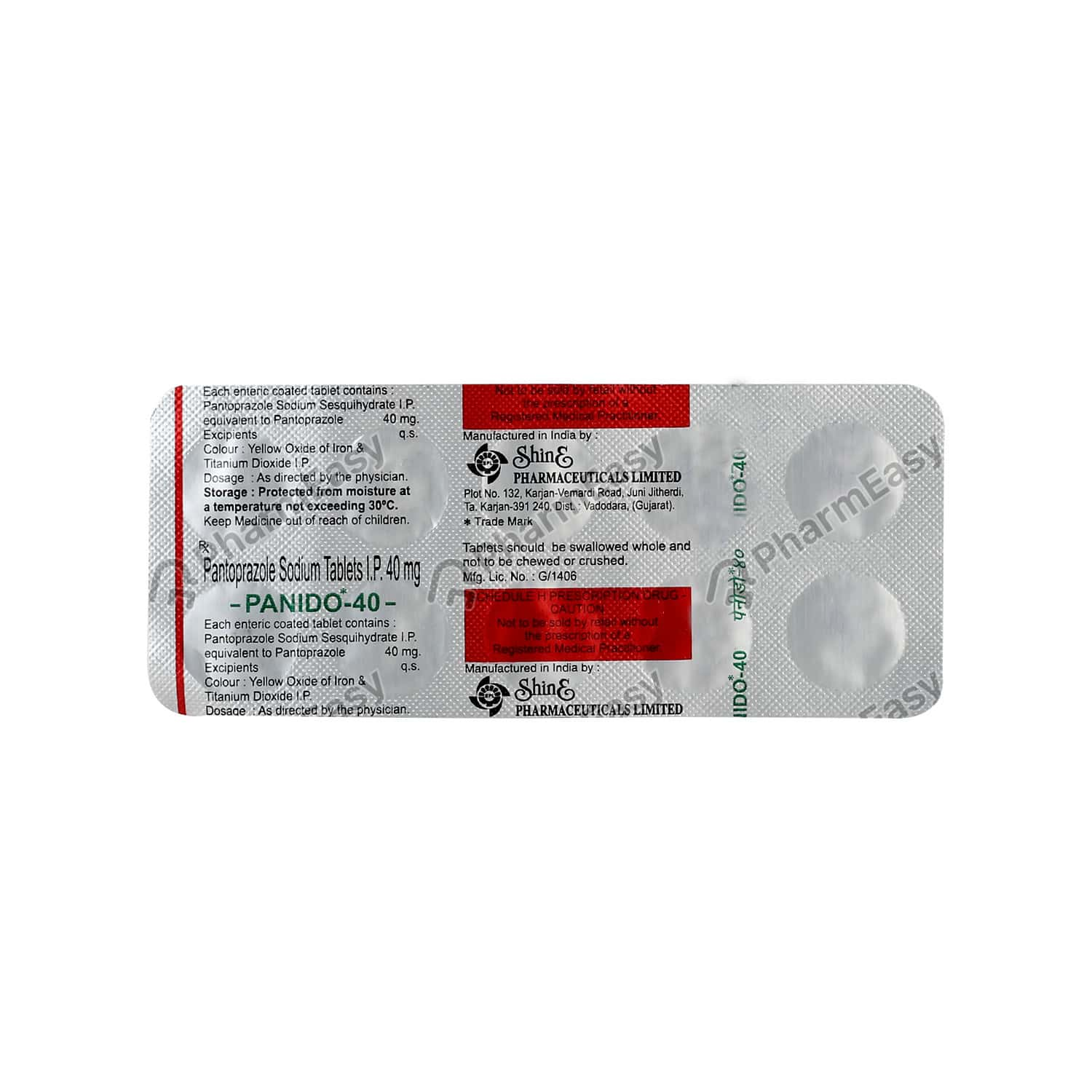 Panido 40mg Tablet