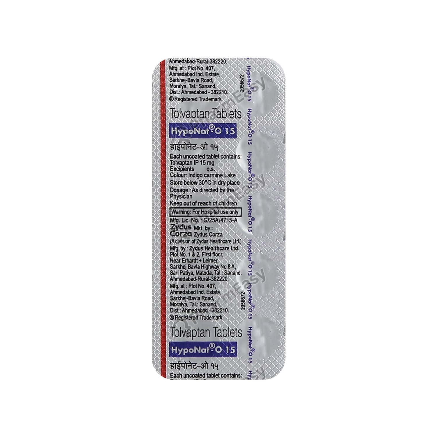 Hyponat O 15mg Strip Of 10 Tablets