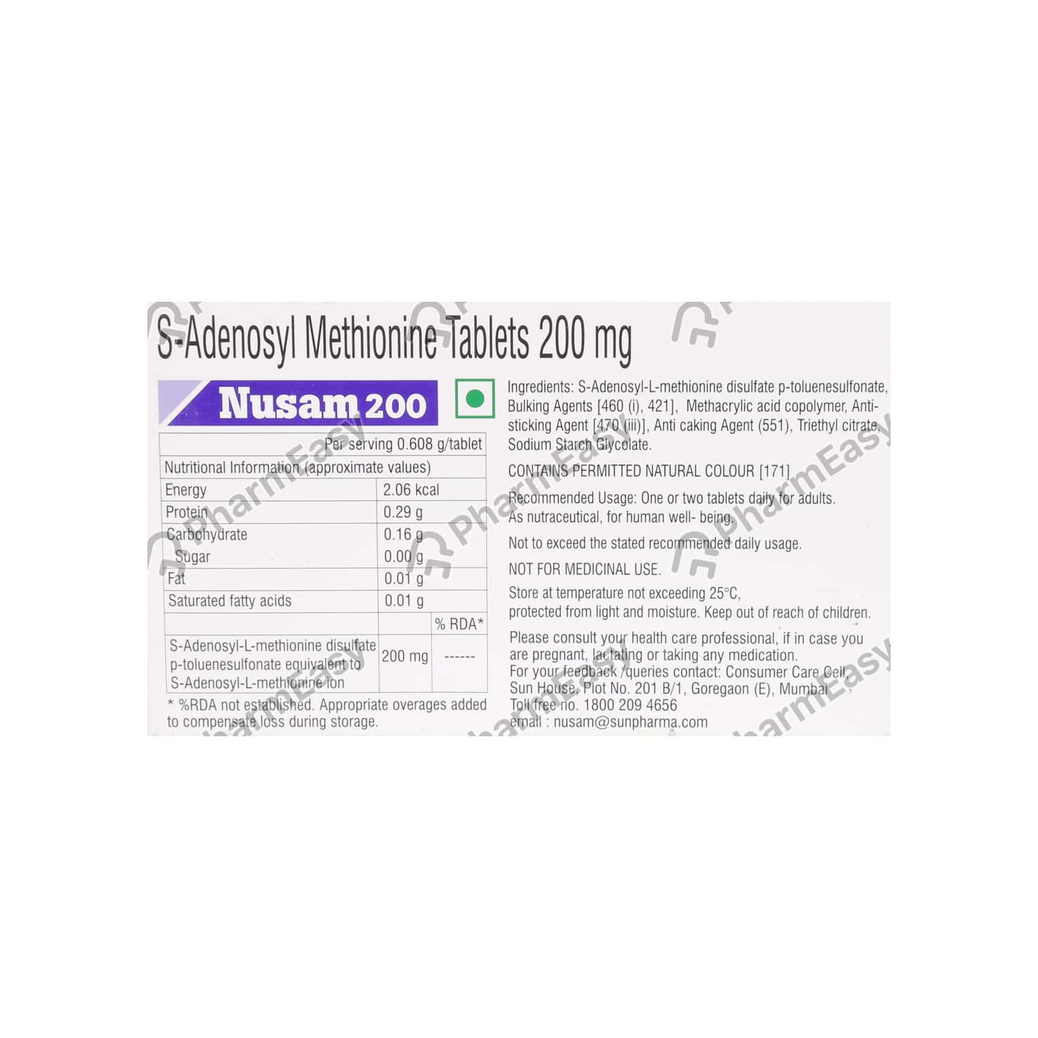 Nusam 200mg Strip Of 10 Tablets