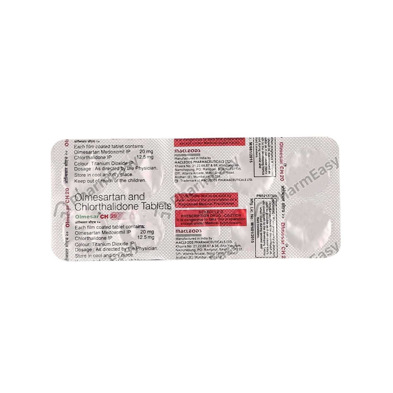Olmesar Ch 20mg Strip Of 10 Tablets