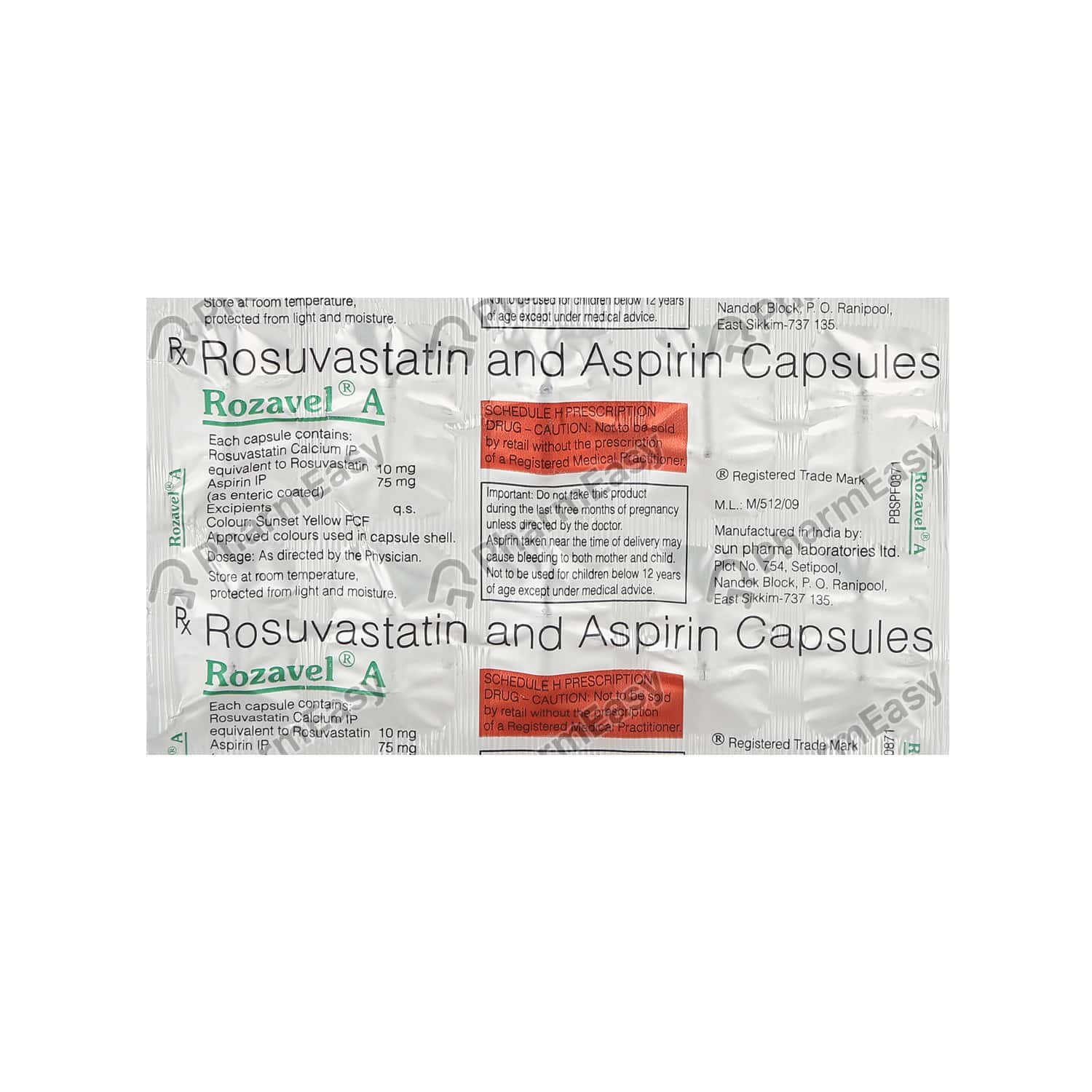 Rozavel A 75mg Strip Of 10 Capsules