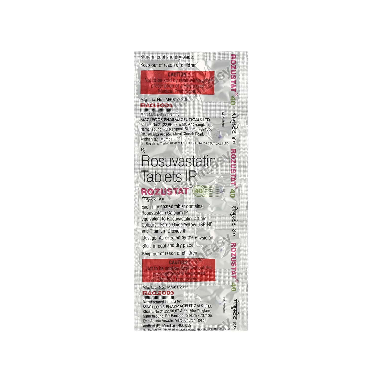 Rozustat 40mg Tablet