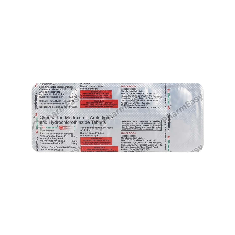 Triolmesar 40mg Strip Of 10 Tablets