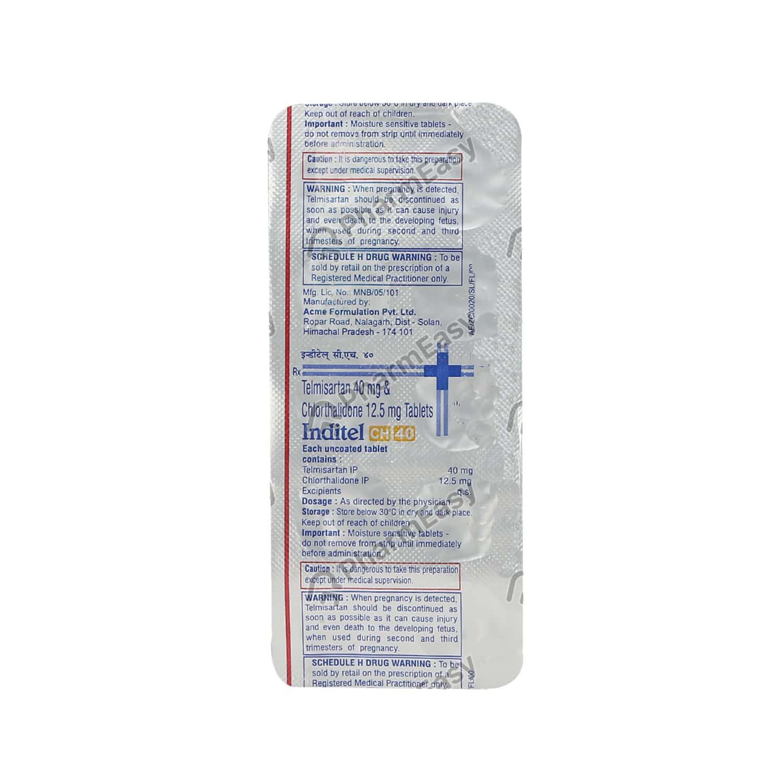 Inditel Ch 40mg Tablet