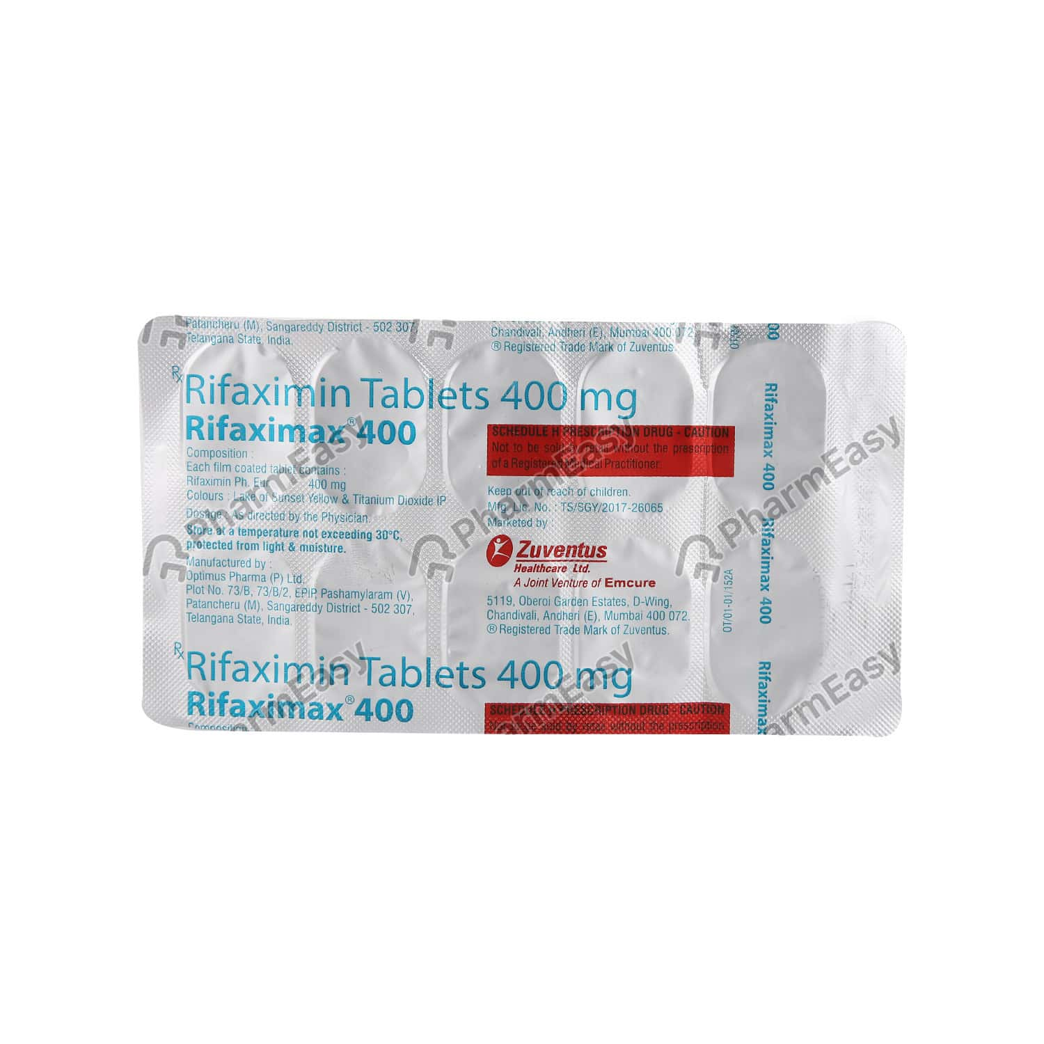 Rifaximax 400mg Tablet