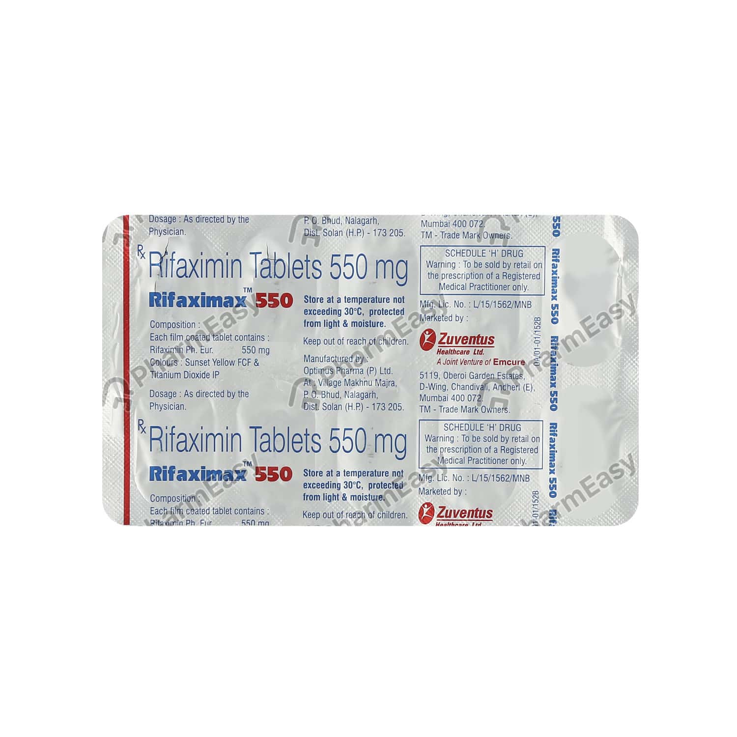 Rifaximax 550mg Tablet