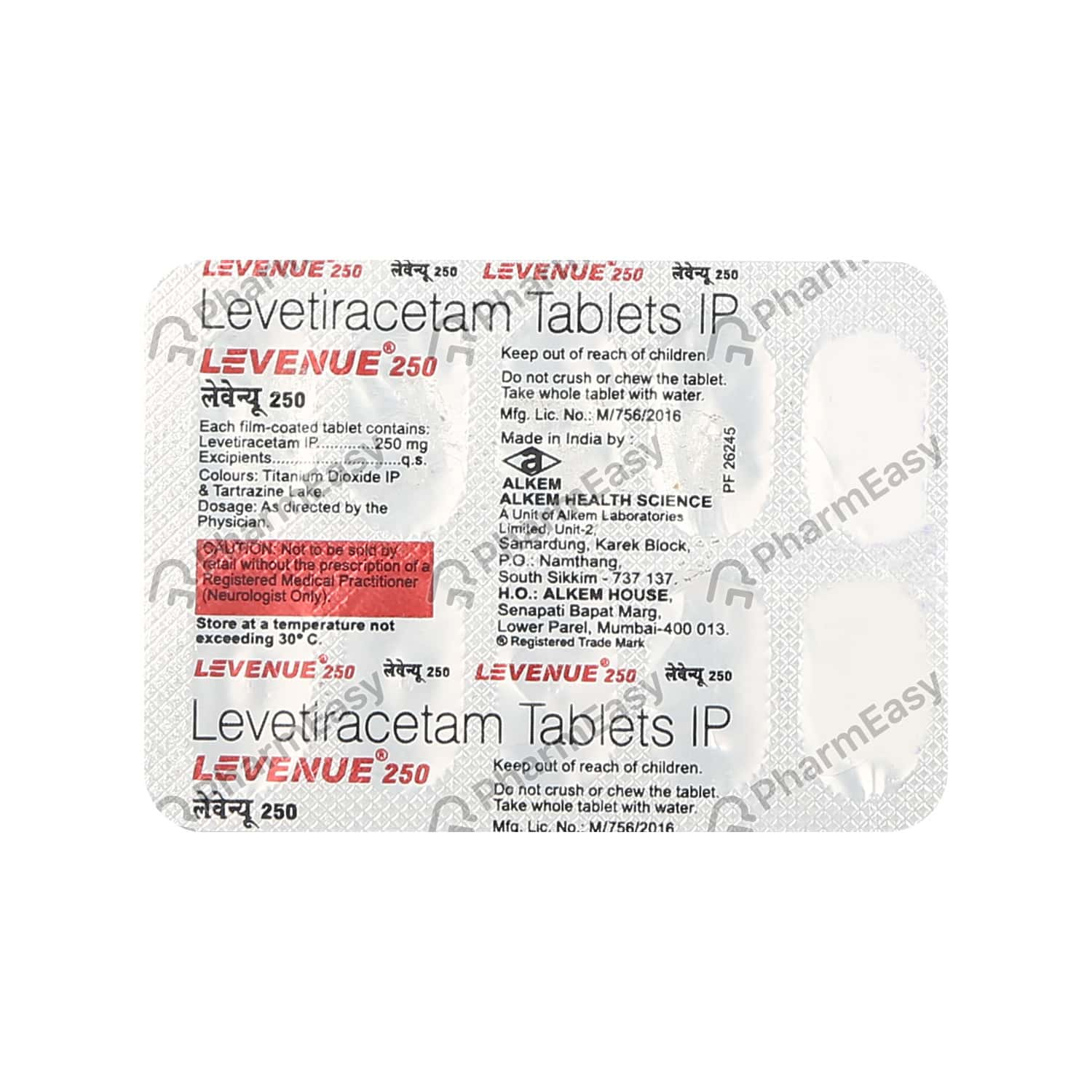 Levenue 250mg Tablet