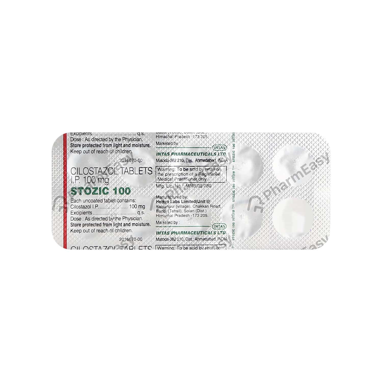 Stozic 100mg Tablet