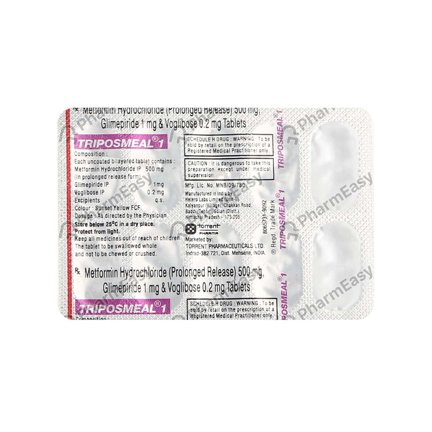 Triposmeal 1mg Strip Of 10 Tablets