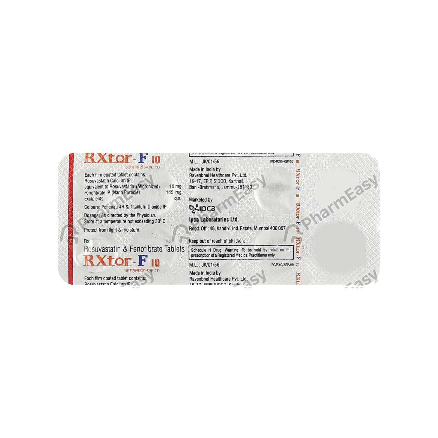 Rxtor F 10mg Strip Of 10 Tablets