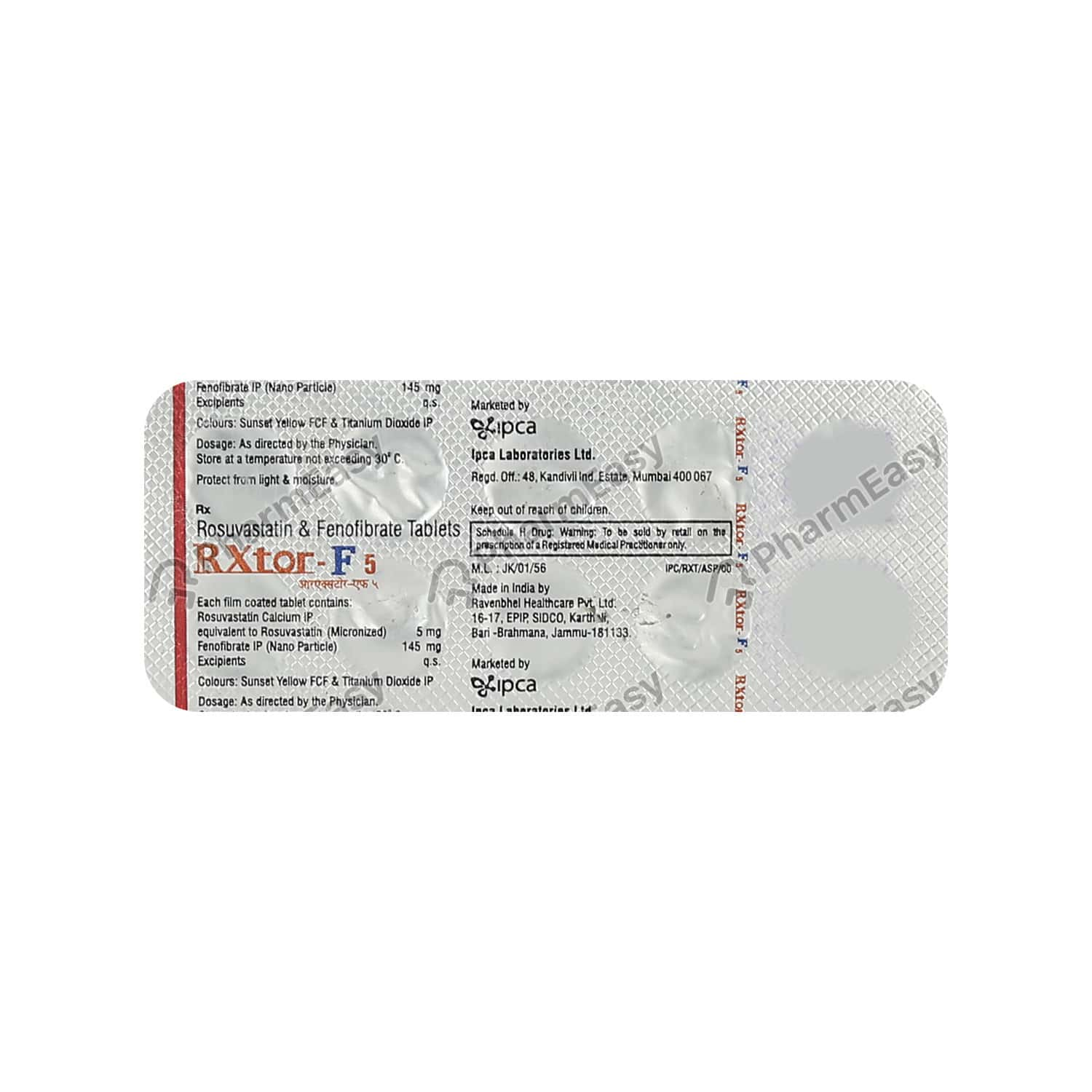 Rxtor F 5mg Tablet