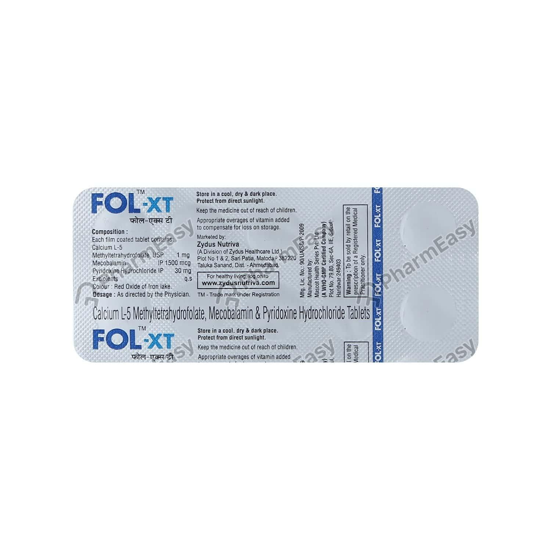 Fol Xt Strip Of 10 Tablets