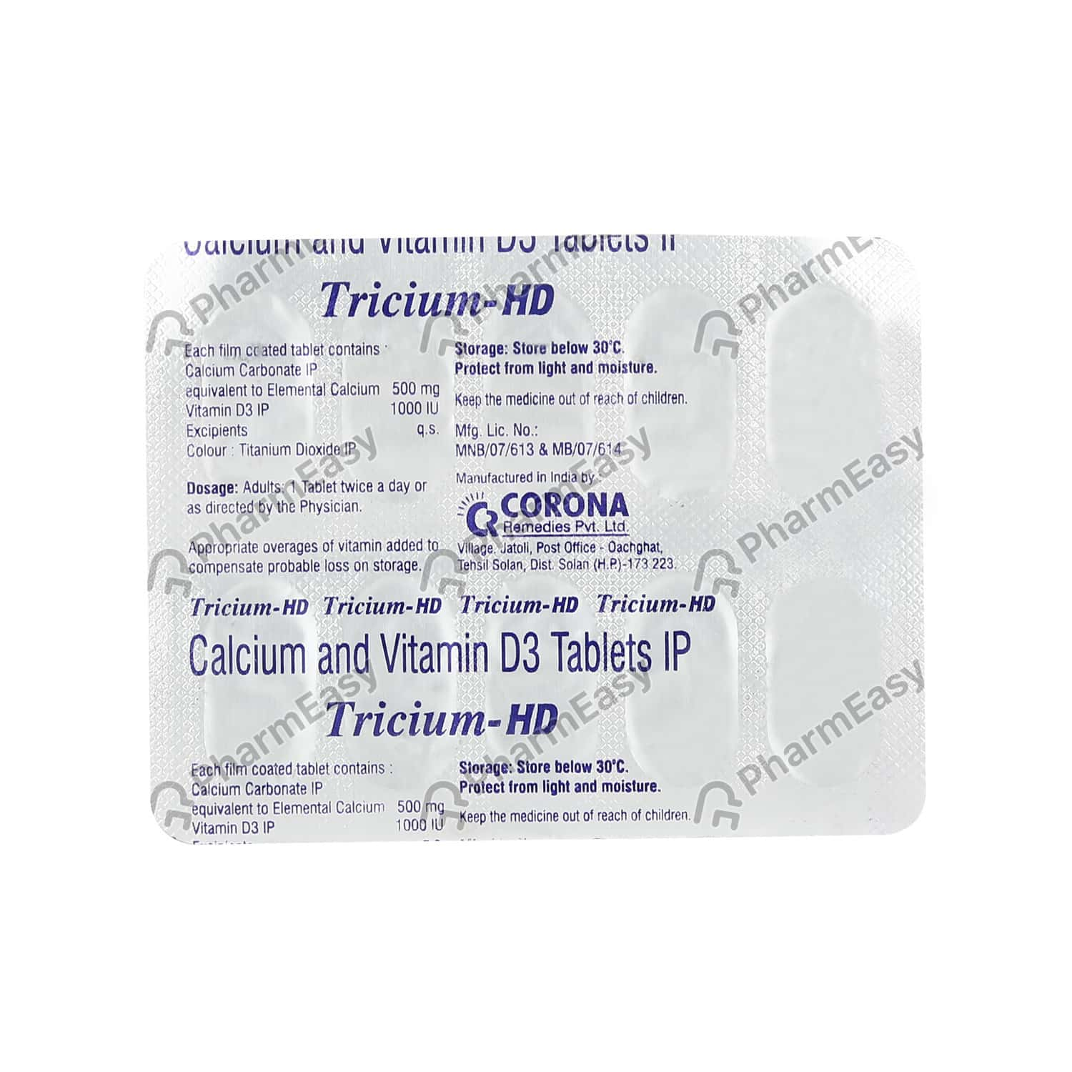 Tricium Hd Strip Of 10 Tablets