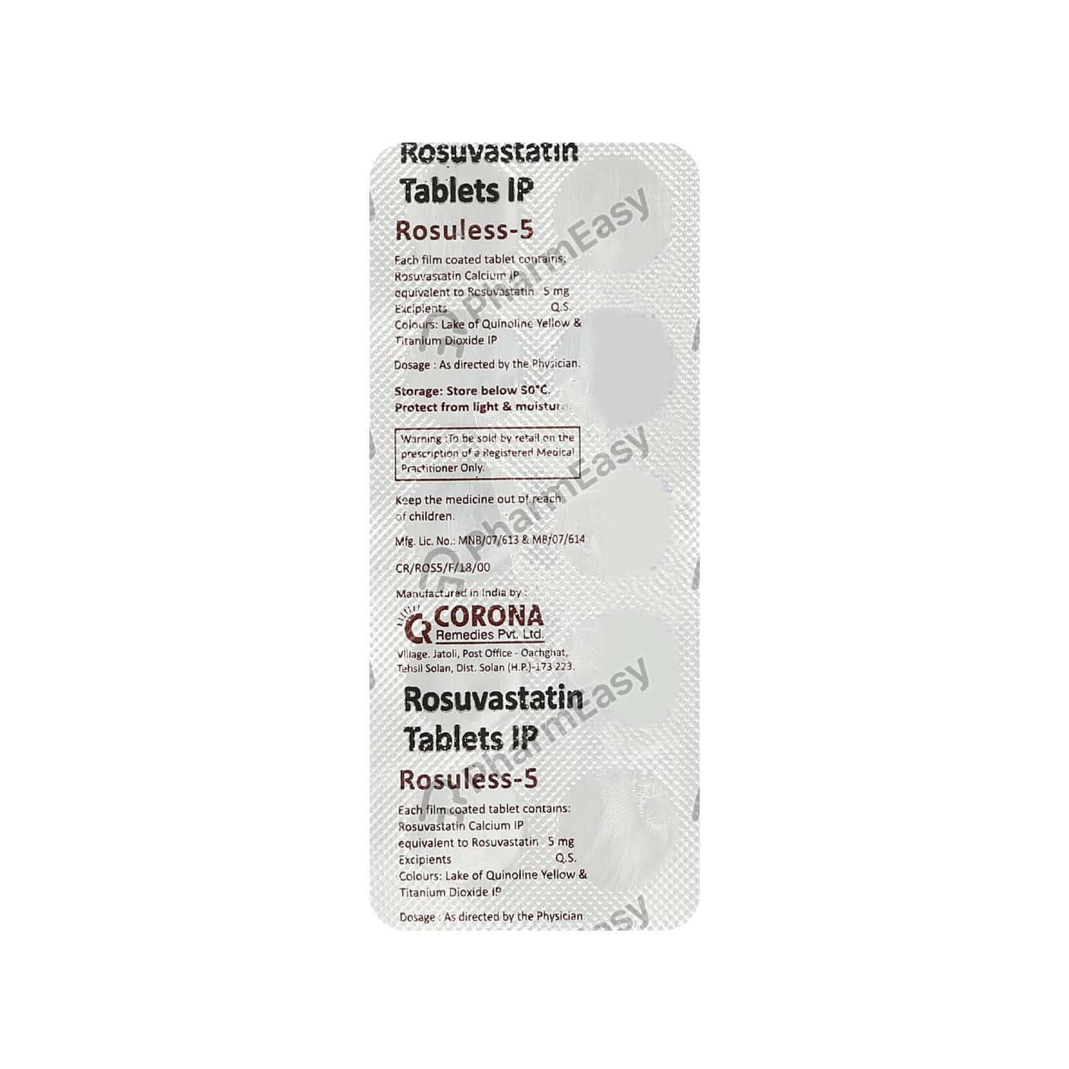 Rosuless 5mg Tablet