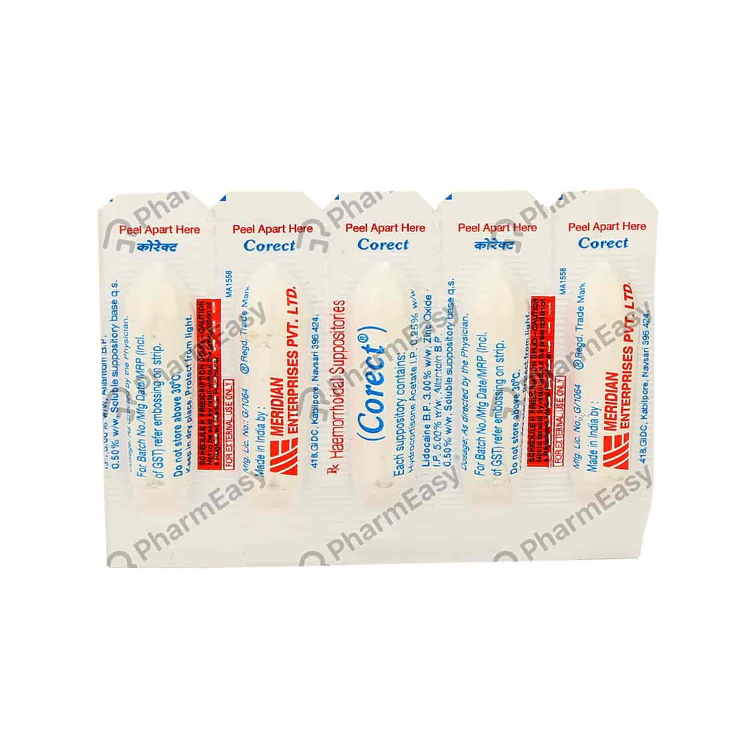 Corect Suppositories