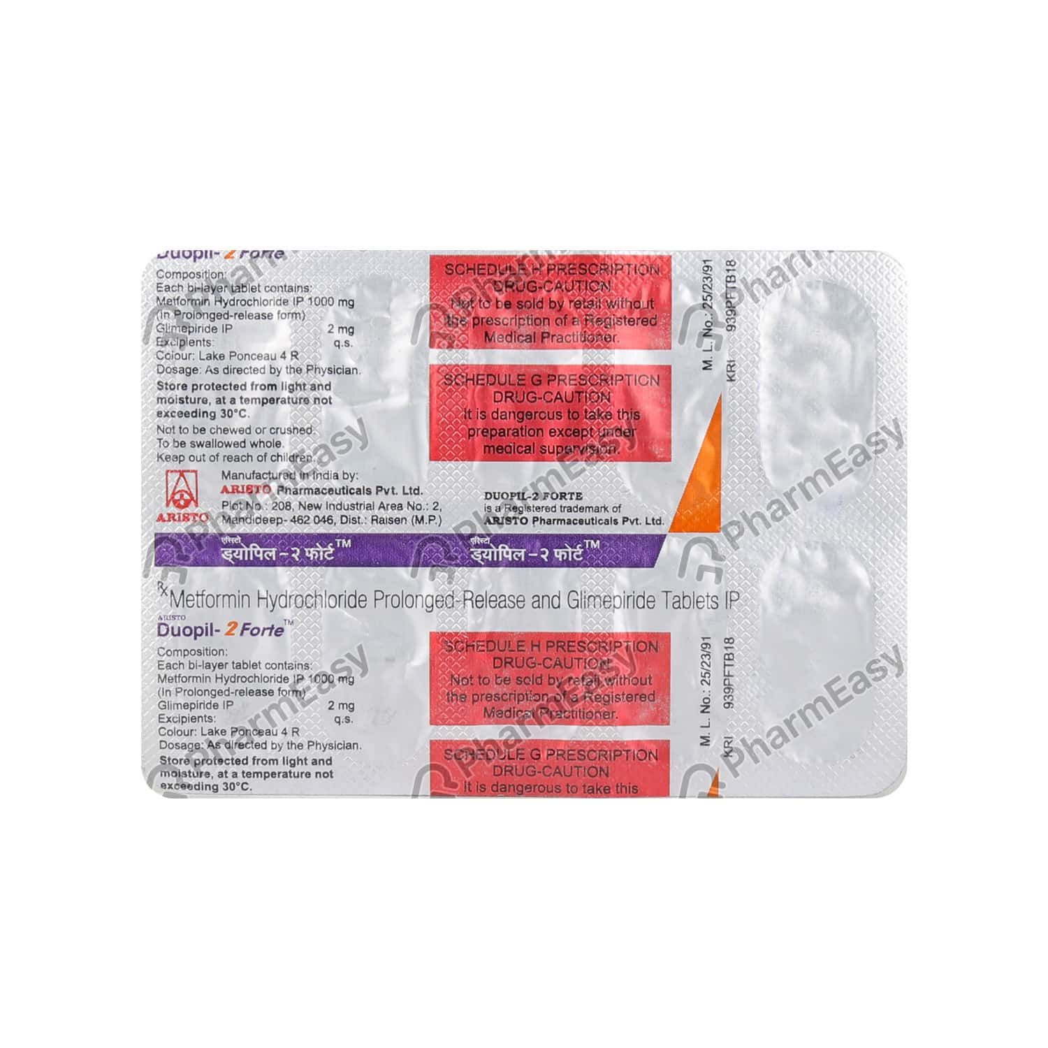 Duopil 2mg Forte Tab 10's
