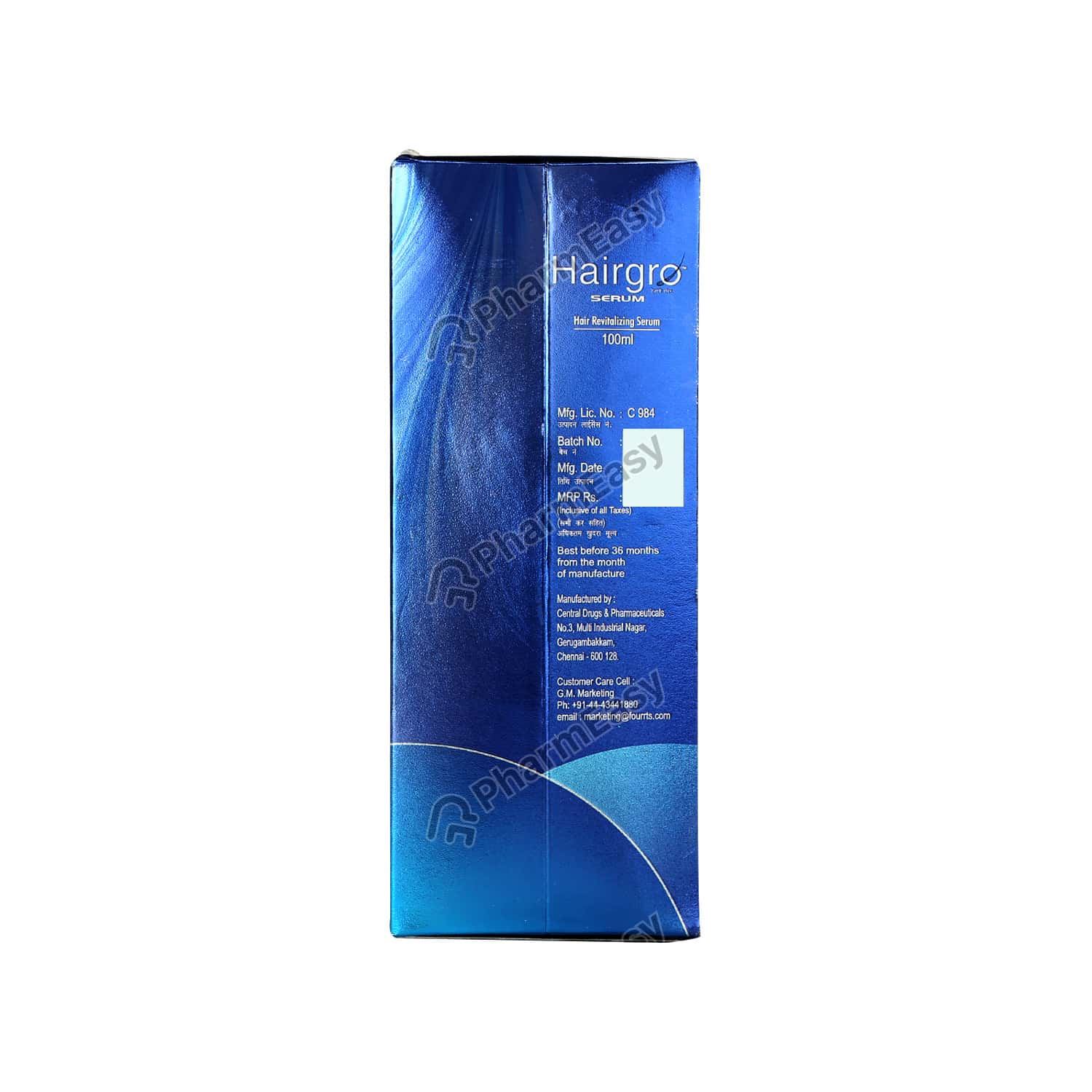Hairgro Bottle Of 100ml Serum