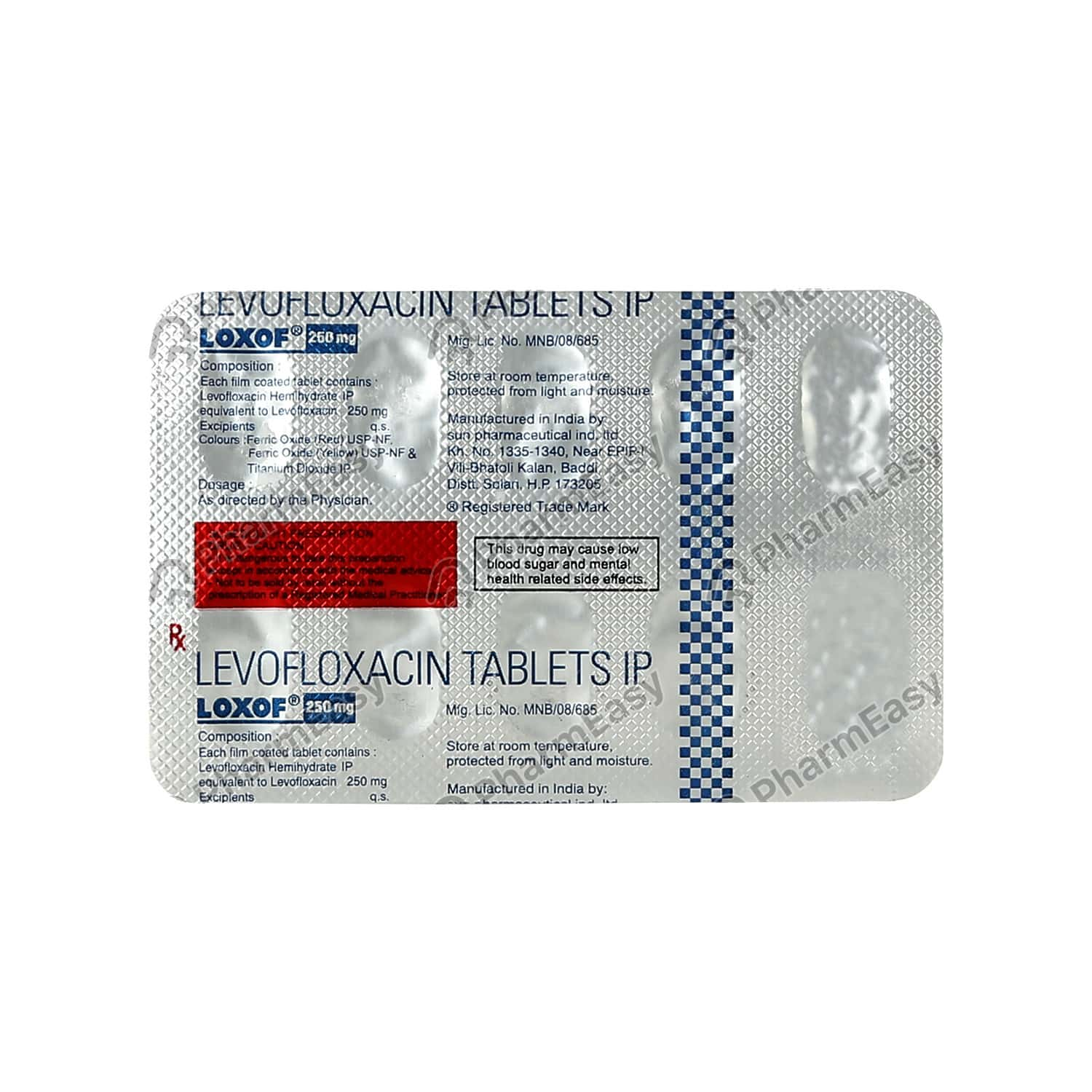 Loxof 250mg Strip Of 10 Tablets