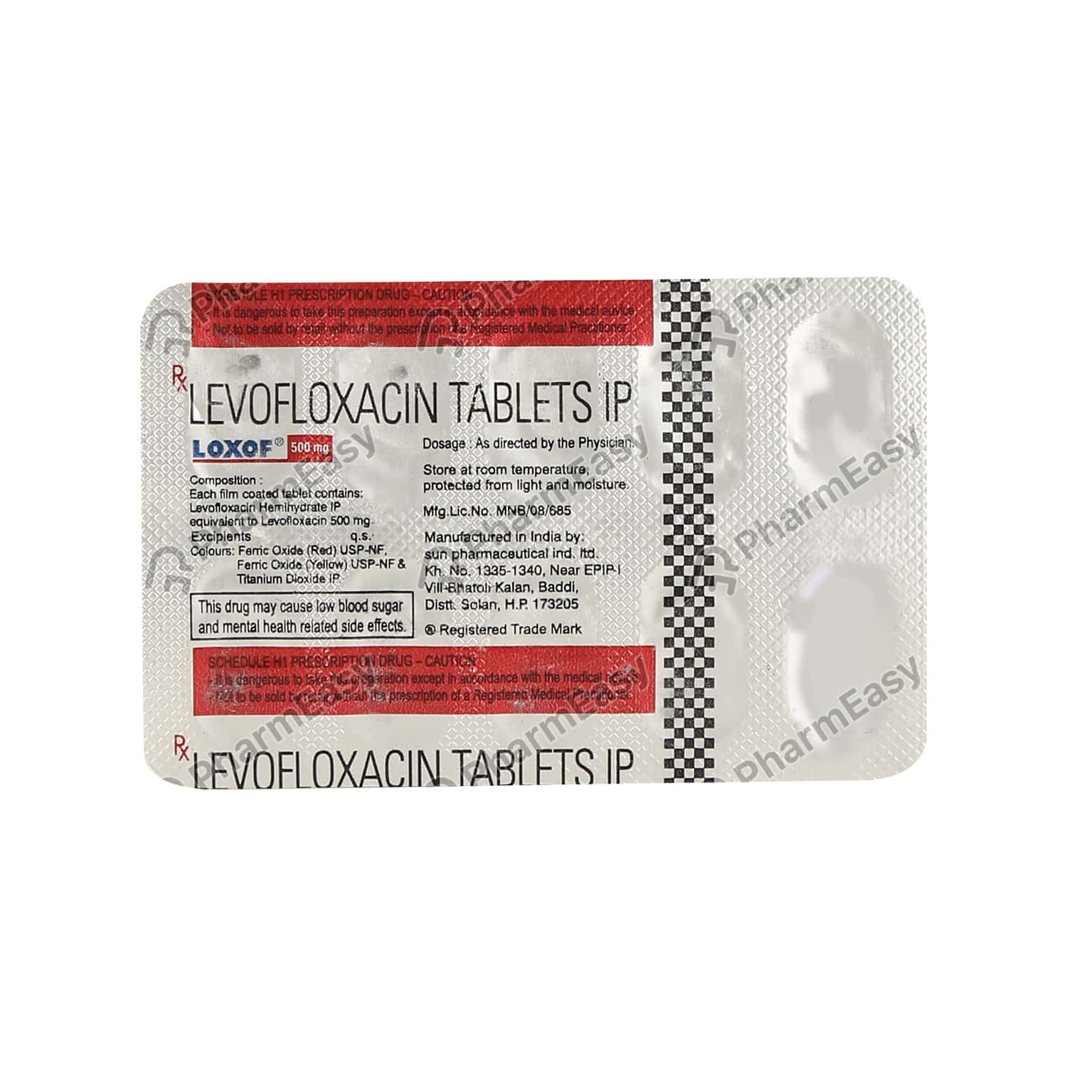 Loxof 500mg Strip Of 10 Tablets