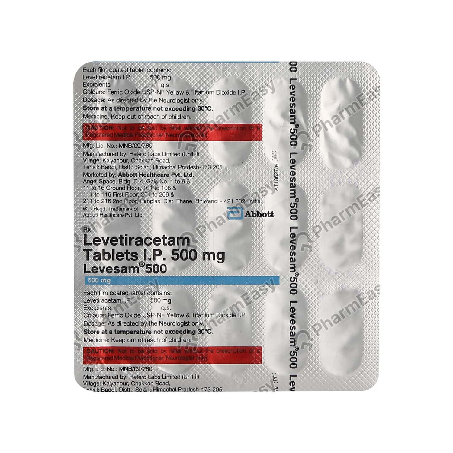 Levesam 500mg Strip Of 15 Tablets