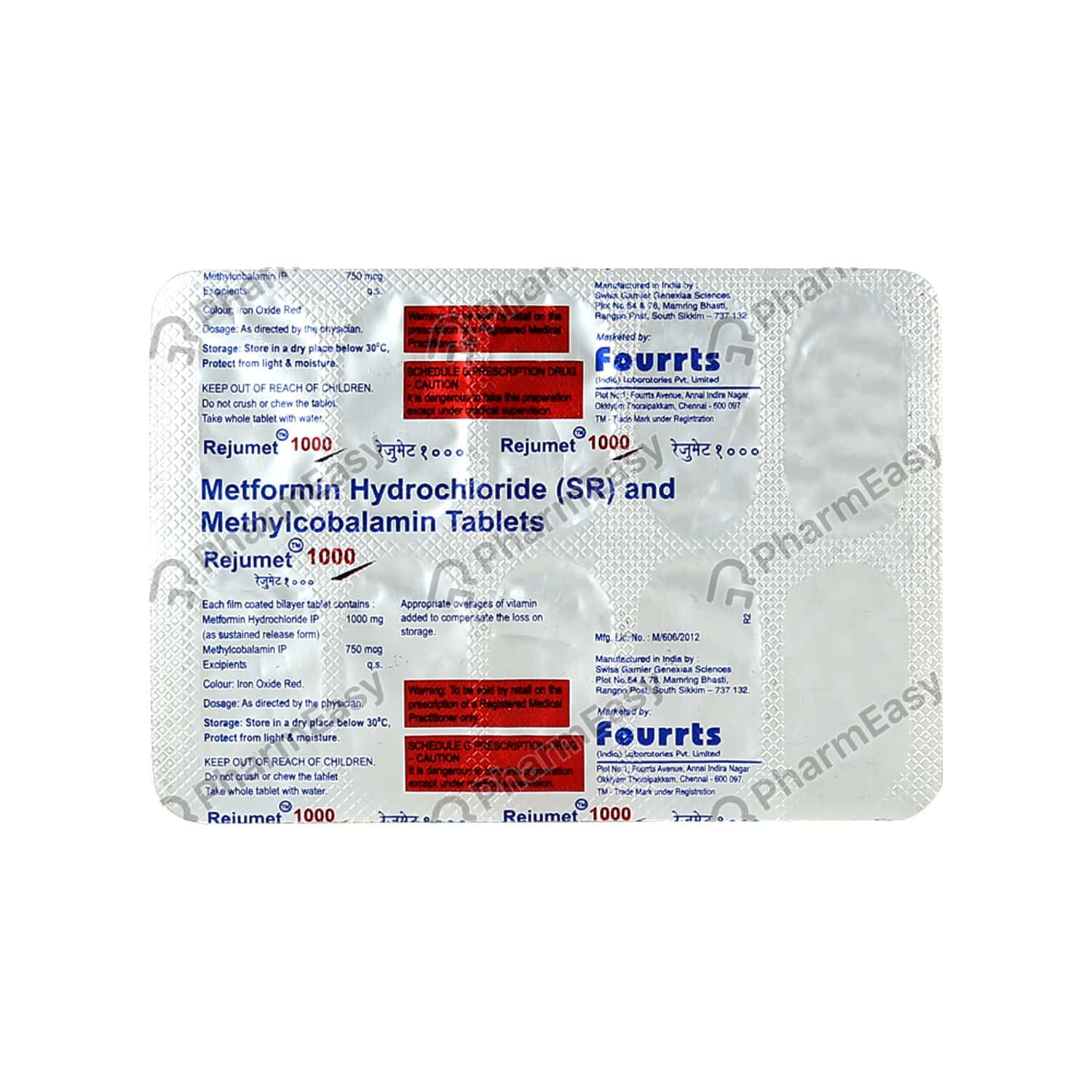 Rejumet 1000mg Strip Of 10 Tablets
