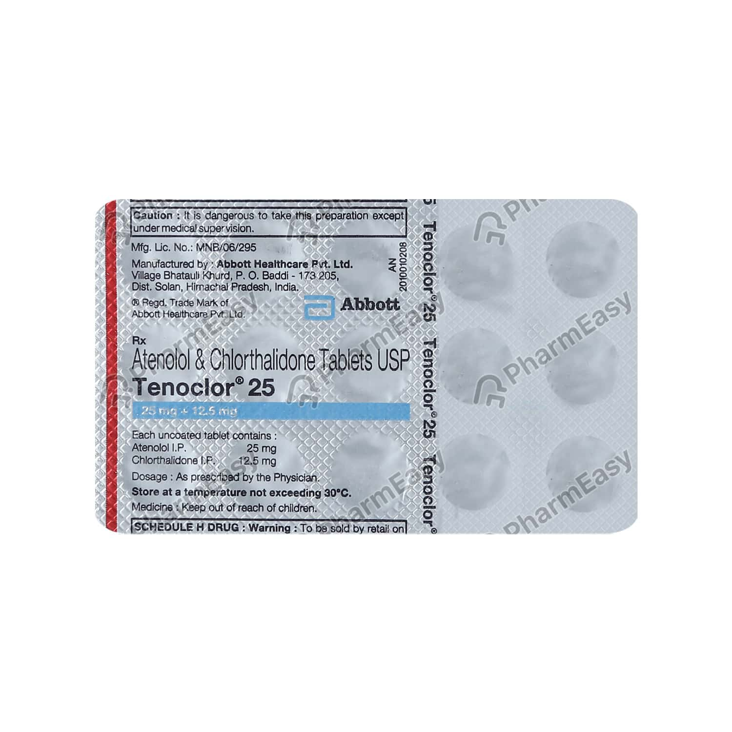 Tenoclor 25mg Strip Of 15 Tablets