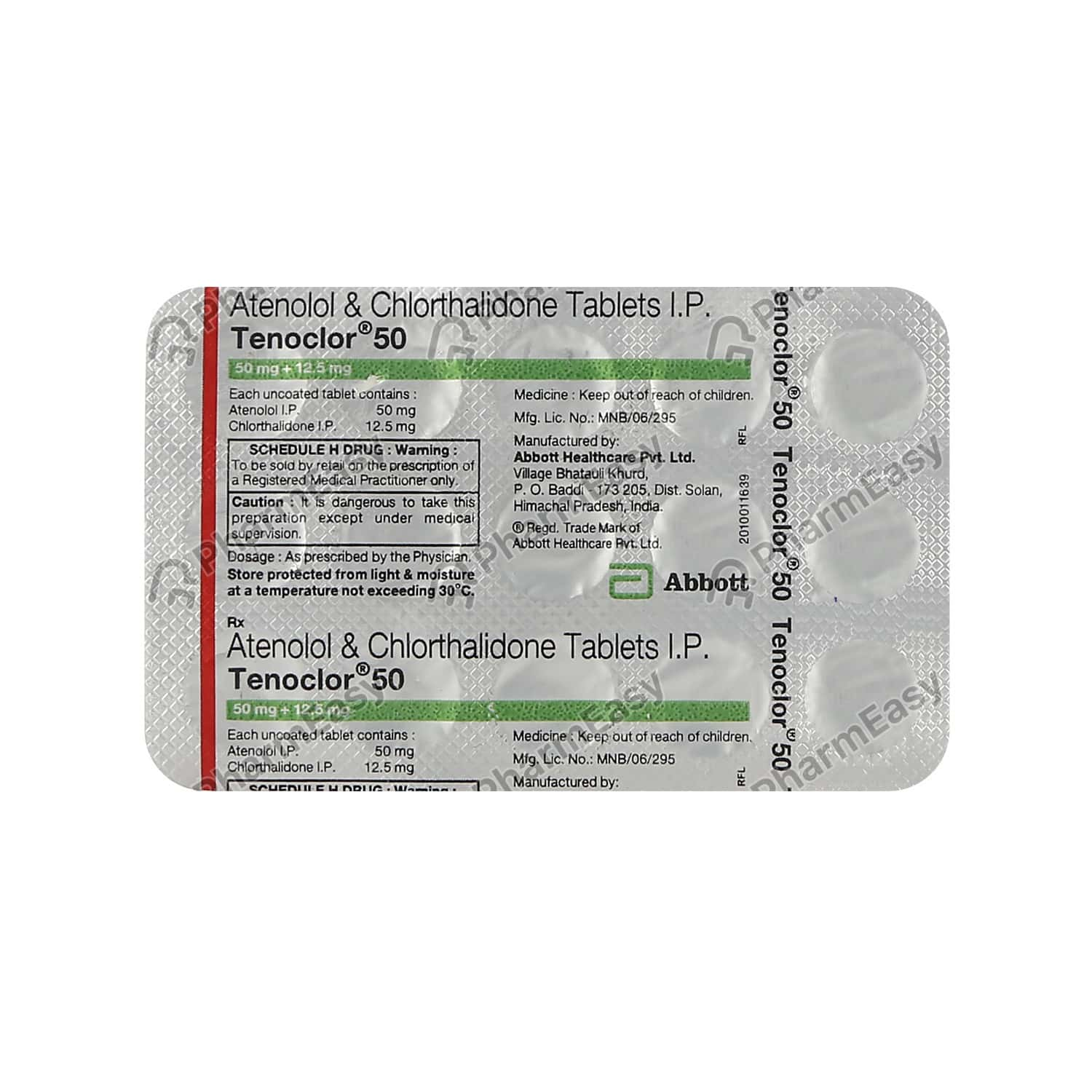 Tenoclor 50mg Strip Of 15 Tablets