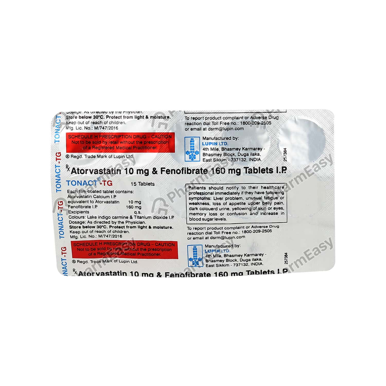 Tonact Tg 10mg Strip Of 15 Tablets