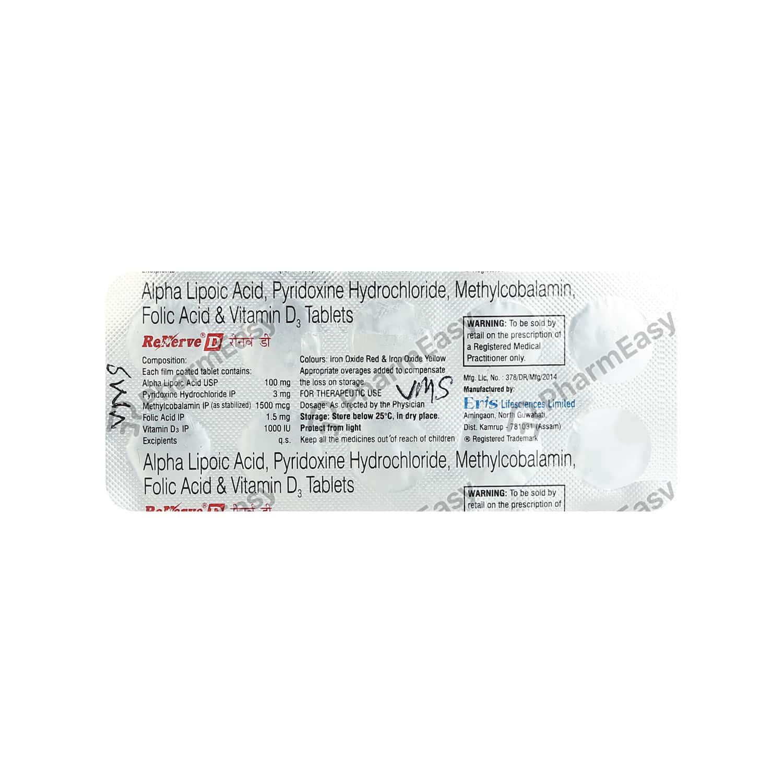 Renerve D Strip Of 10 Tablets
