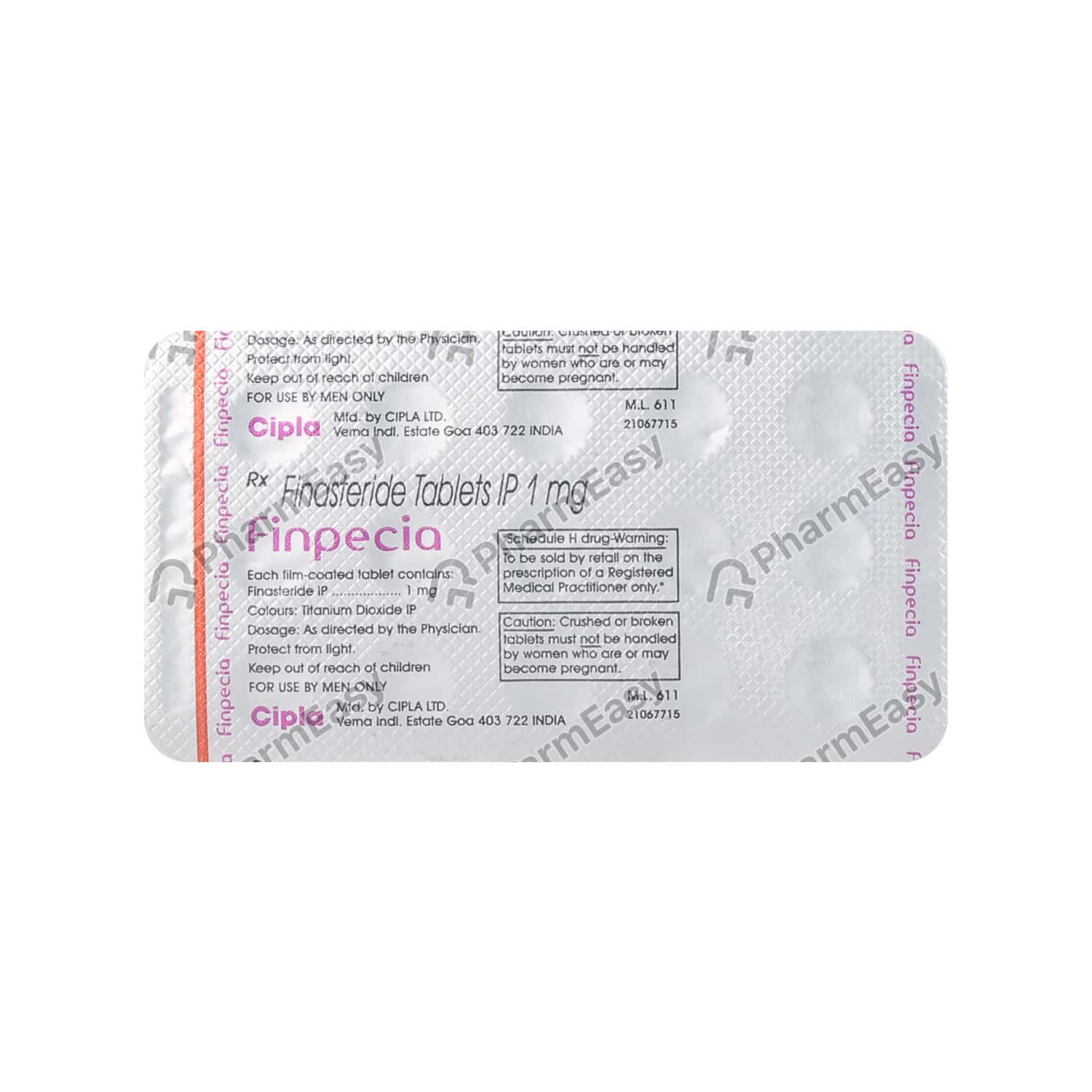 Finpecia 1mg Strip Of 15 Tablets