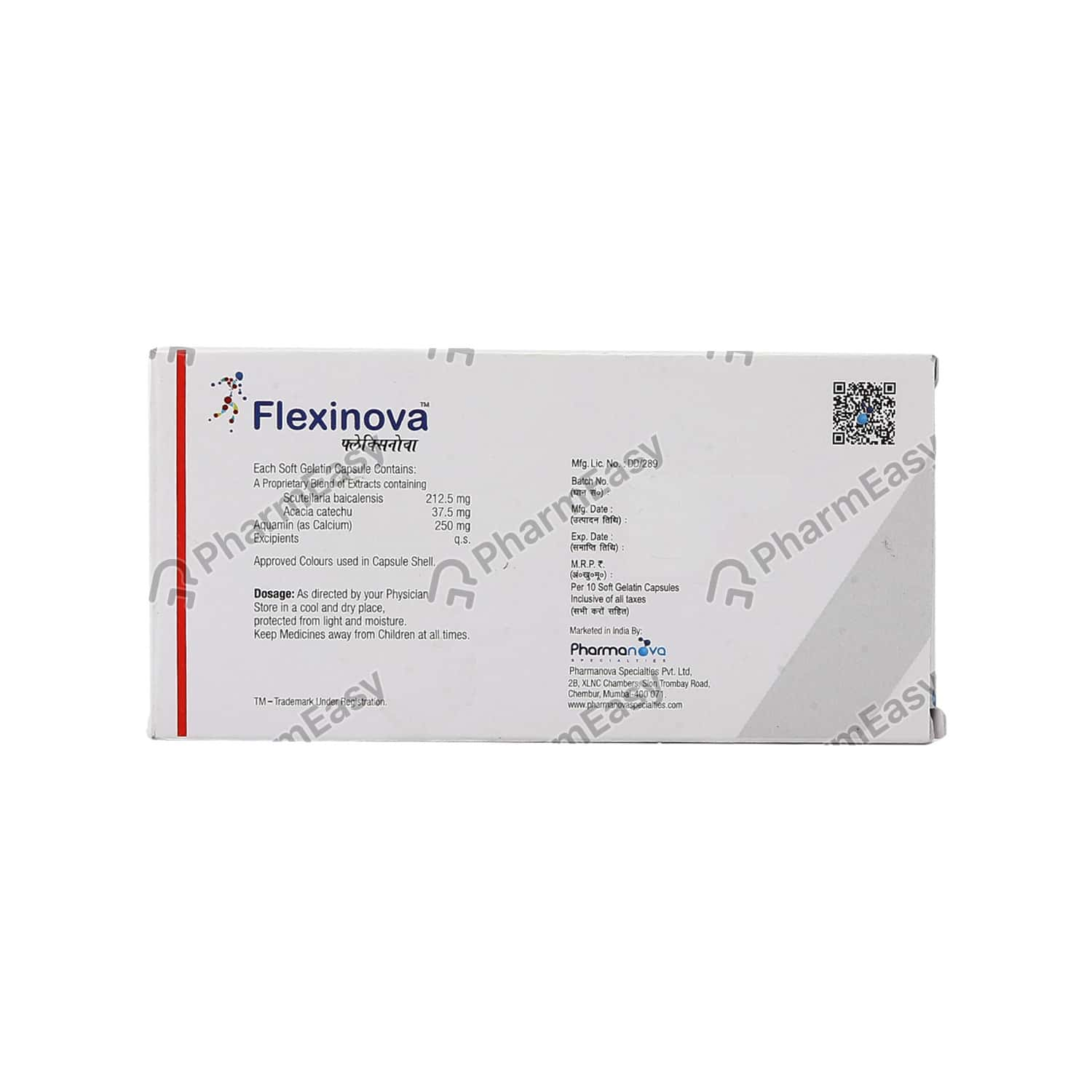 Flexinova Strip Of 10 Capsules