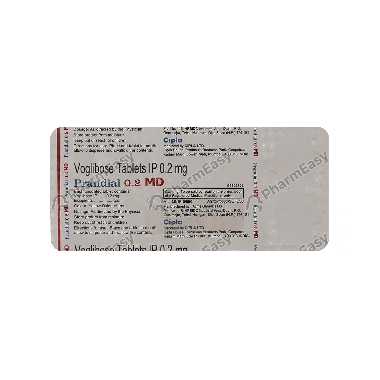 Prandial Md 0.2mg Tablet