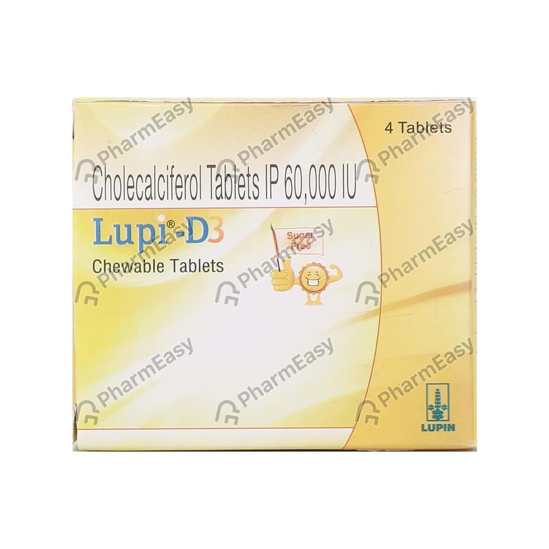 Lupi D3 60k Sugar Free Strip Of 4 Chewable Tablets