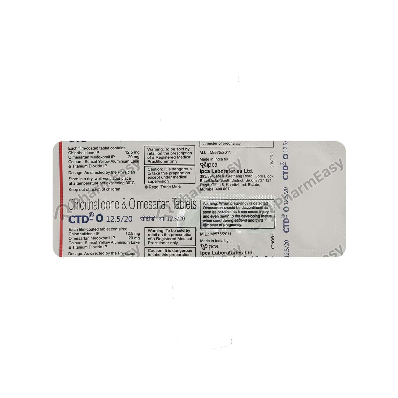 Ctd O 12.5/20mg Tablet