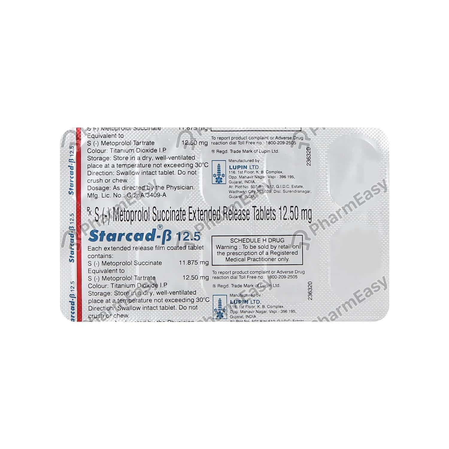 Starcad Beta 12.5mg Strip Of 10 Tablets
