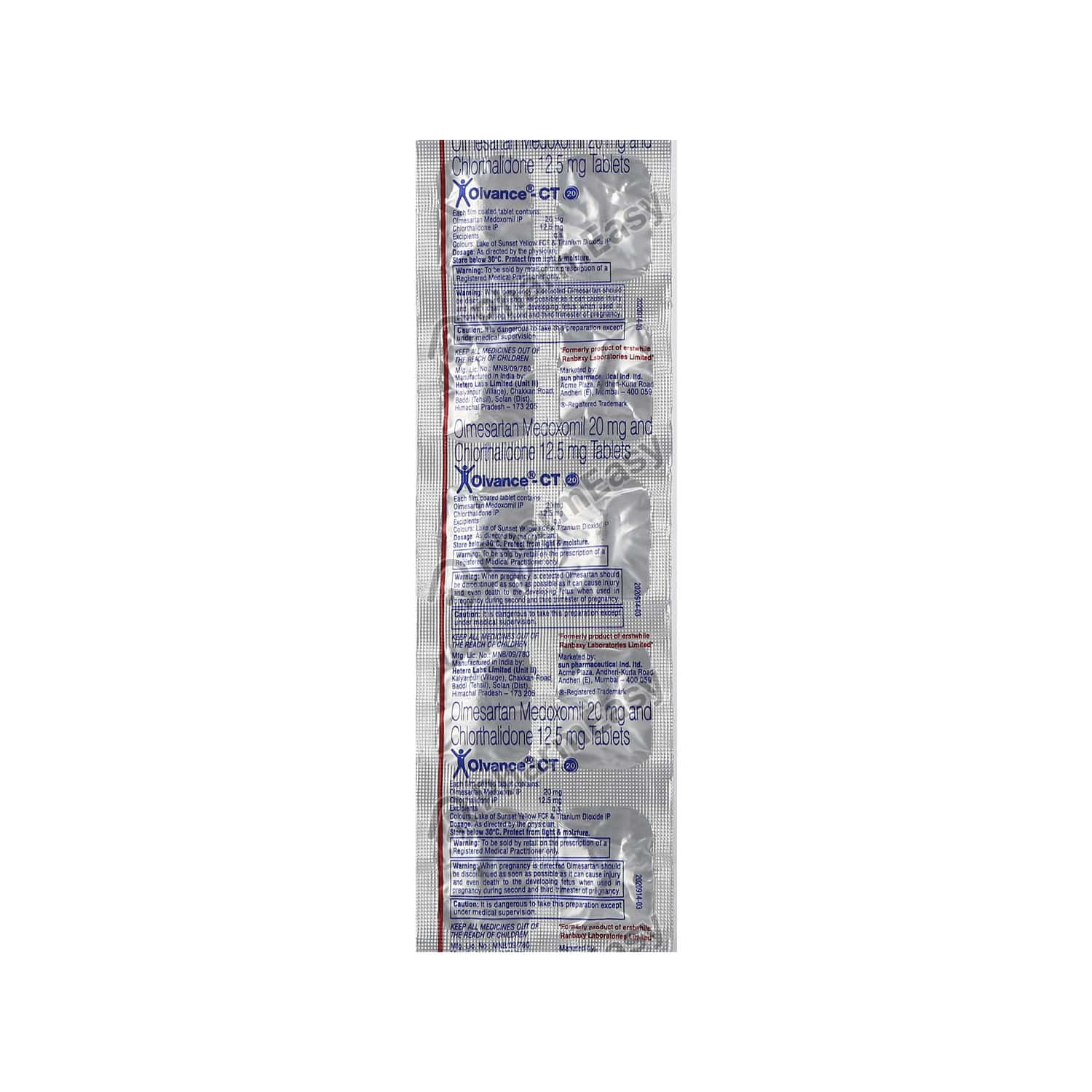 Olvance Ct 20mg Strip Of 10 Tablets