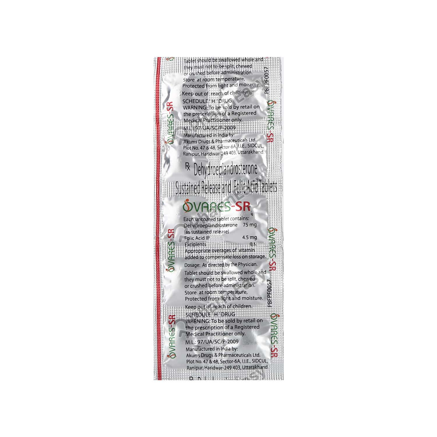 Ovares Sr 75mg Strip Of 10 Tablets
