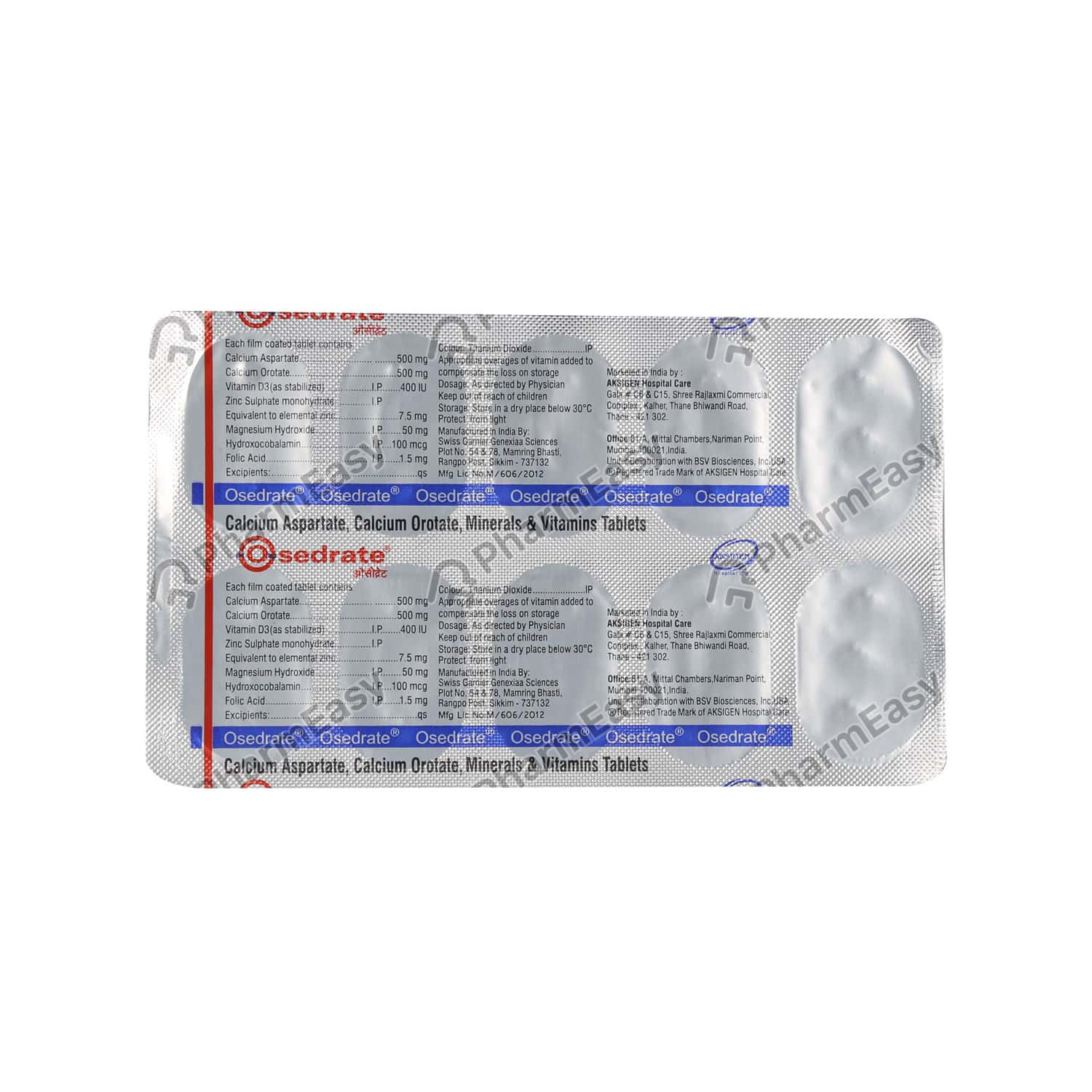 Osedrate Strip Of 10 Tablets