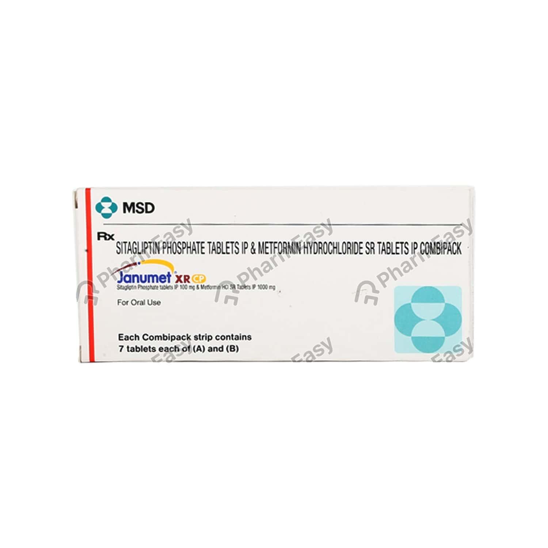 Janumet Xr Cp 100/1000mg Strip Of 7 Tablets