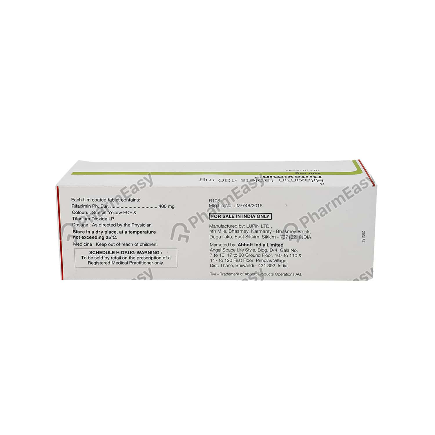 Dufaximin 400mg Tablet