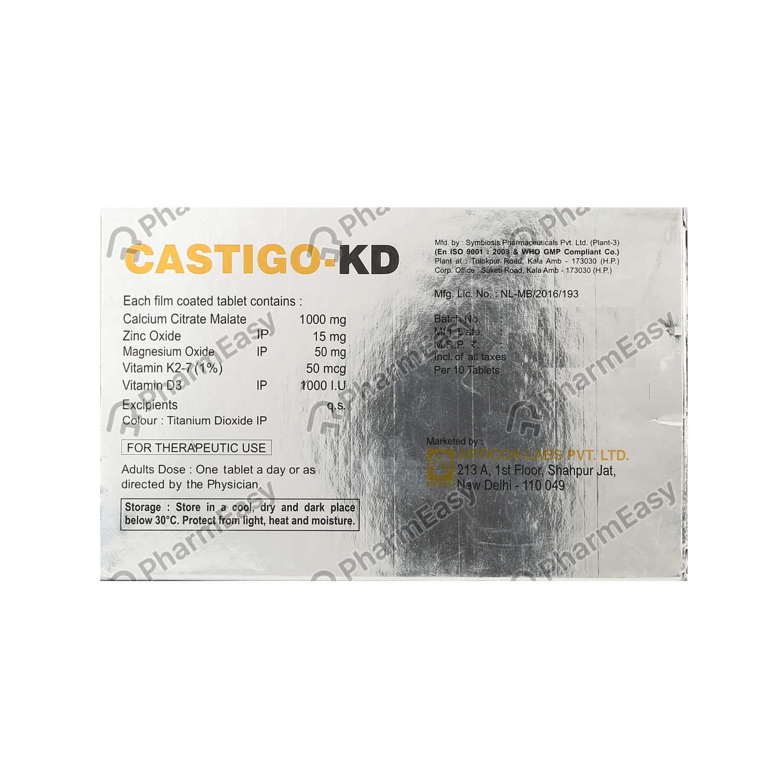 Castigo Kd Strip Of 10 Tablets