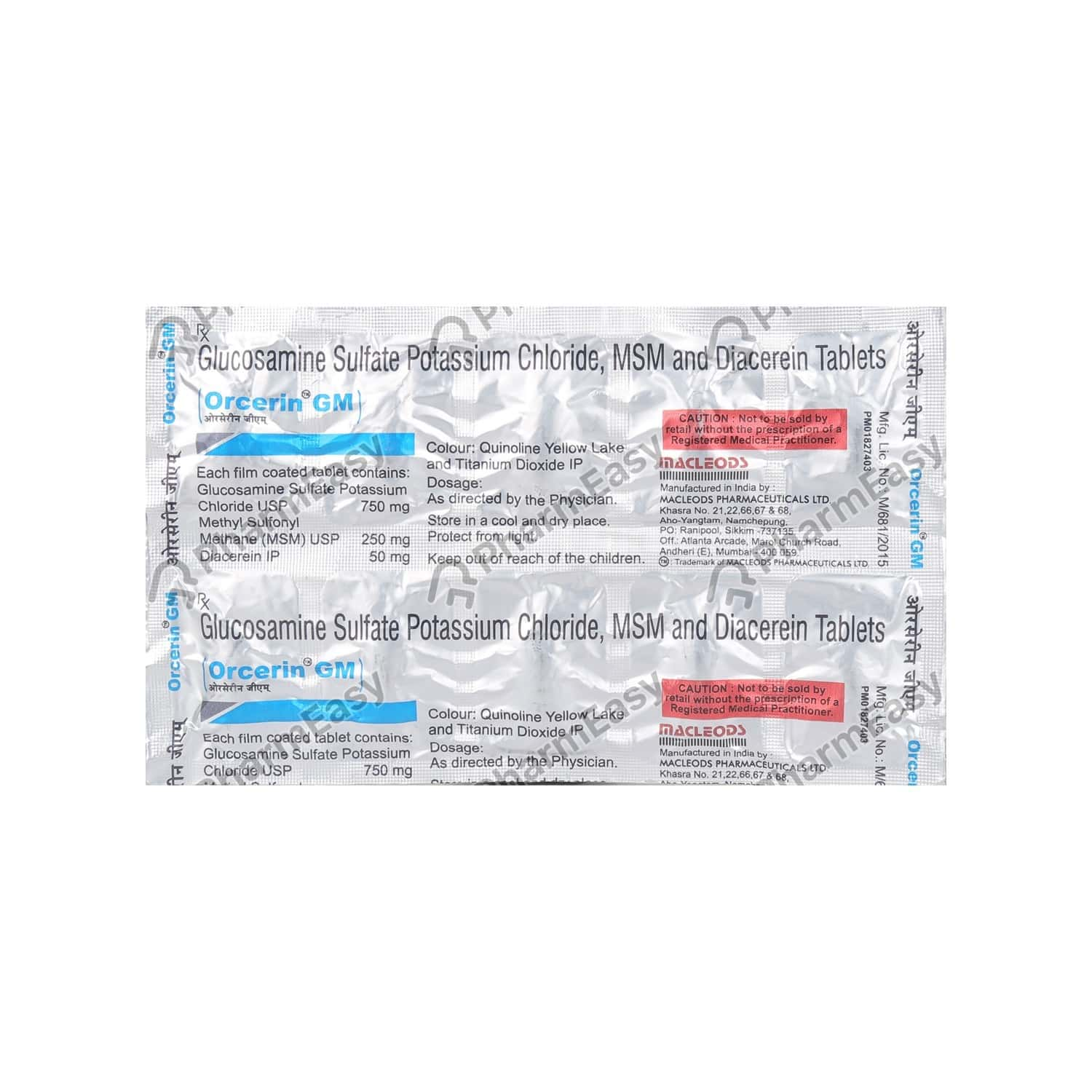 Orcerin Gm Strip Of 10 Tablets